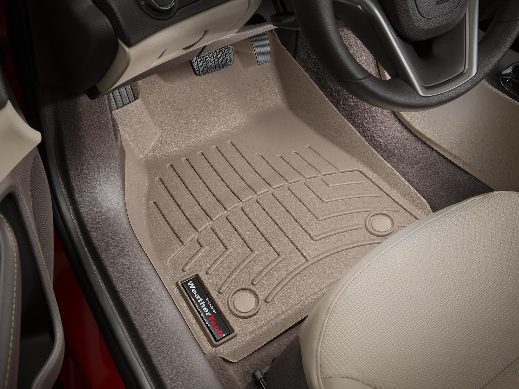 Tappeti gomma Weathertech bordo alto Chevrolet Malibu 13>15 Marrone A144
