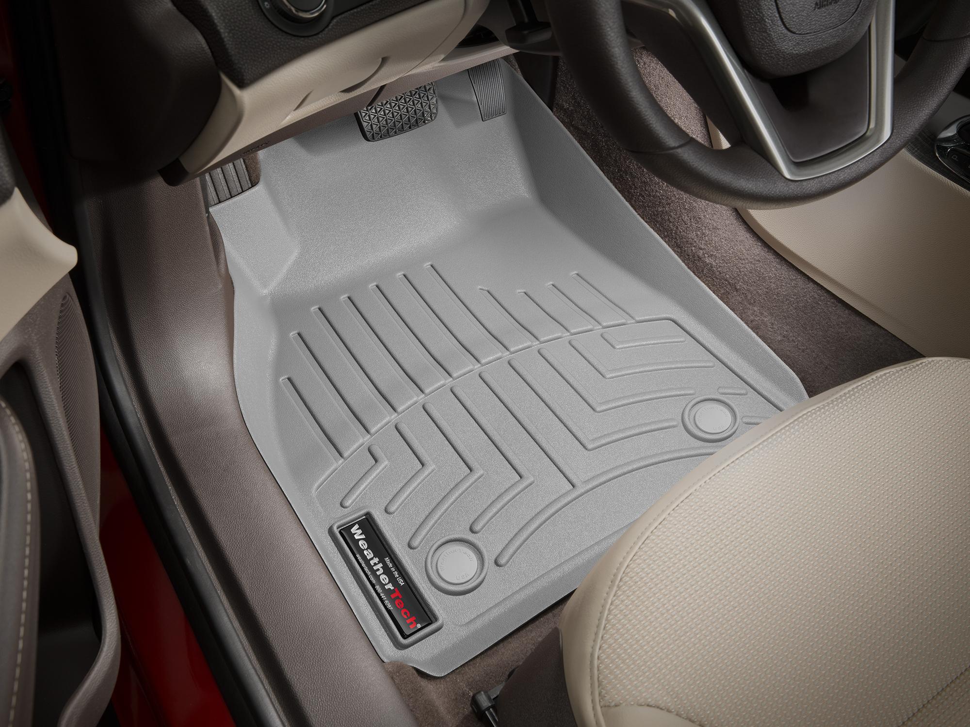 Tappeti gomma su misura bordo alto Chevrolet Malibu 13>15 Grigio A142
