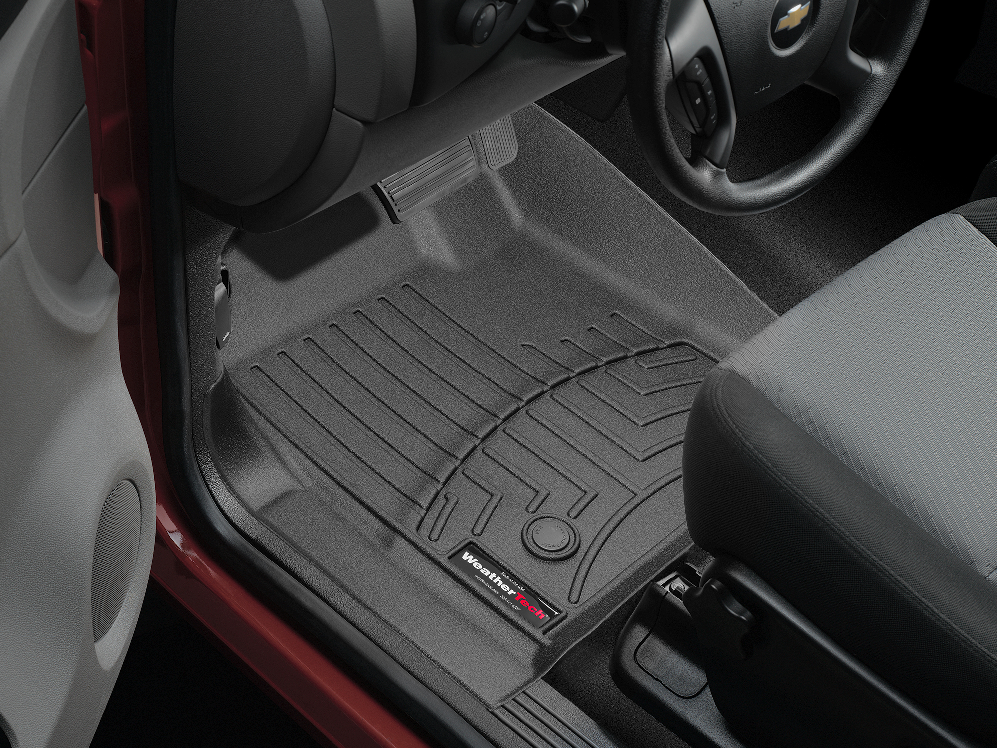 Tappeti gomma su misura bordo alto Chevrolet Silverado 14>14 Nero A188