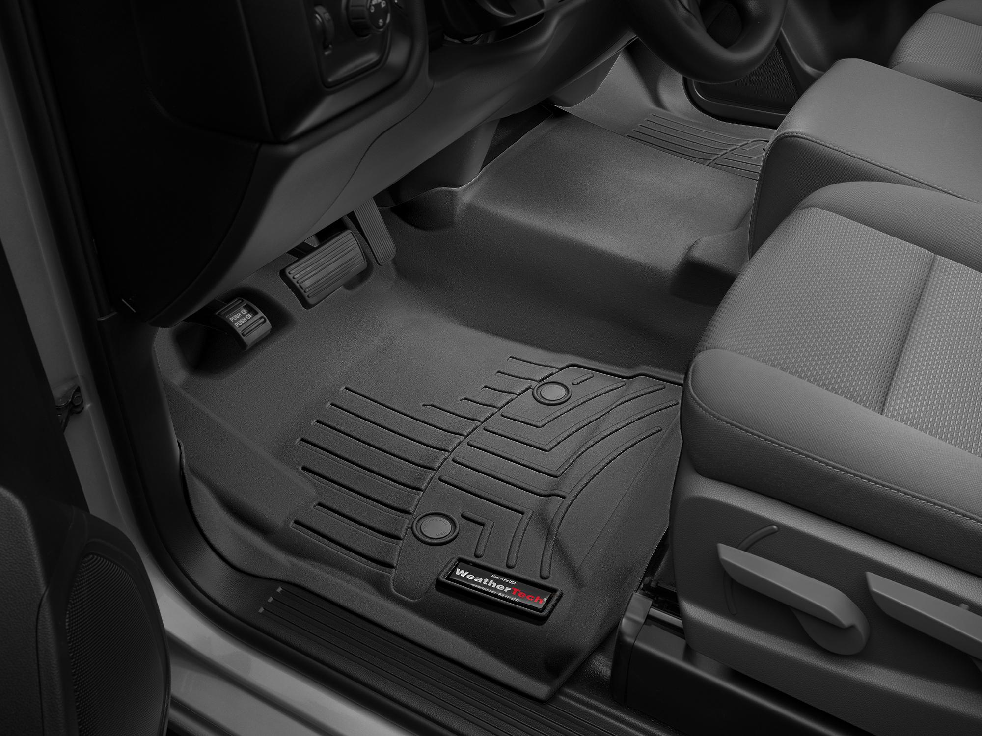 Tappeti gomma su misura bordo alto Chevrolet Silverado 14>14 Nero A191
