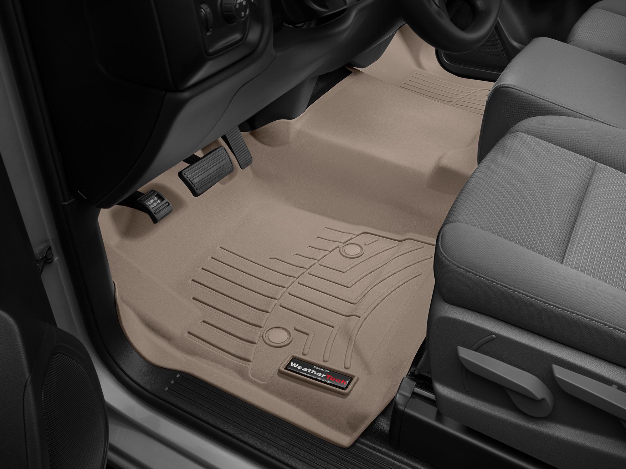 Tappeti gomma su misura bordo alto Chevrolet Silverado 14>14 Marrone A186
