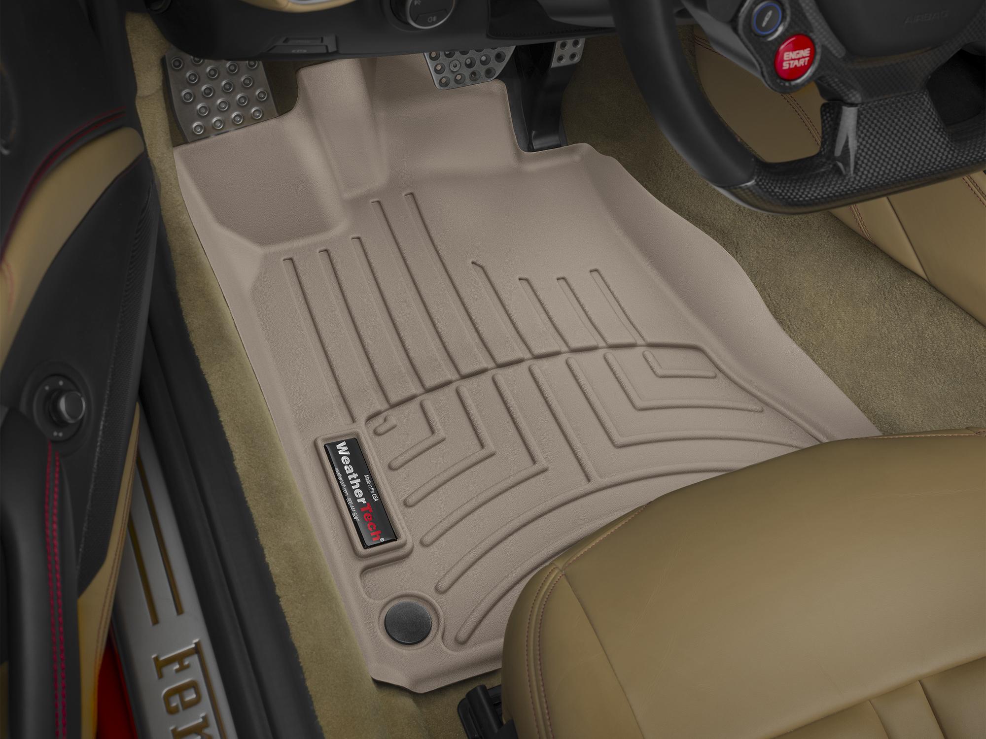 Tappeti gomma su misura bordo alto Ferrari California T 14>15 Marrone A738*