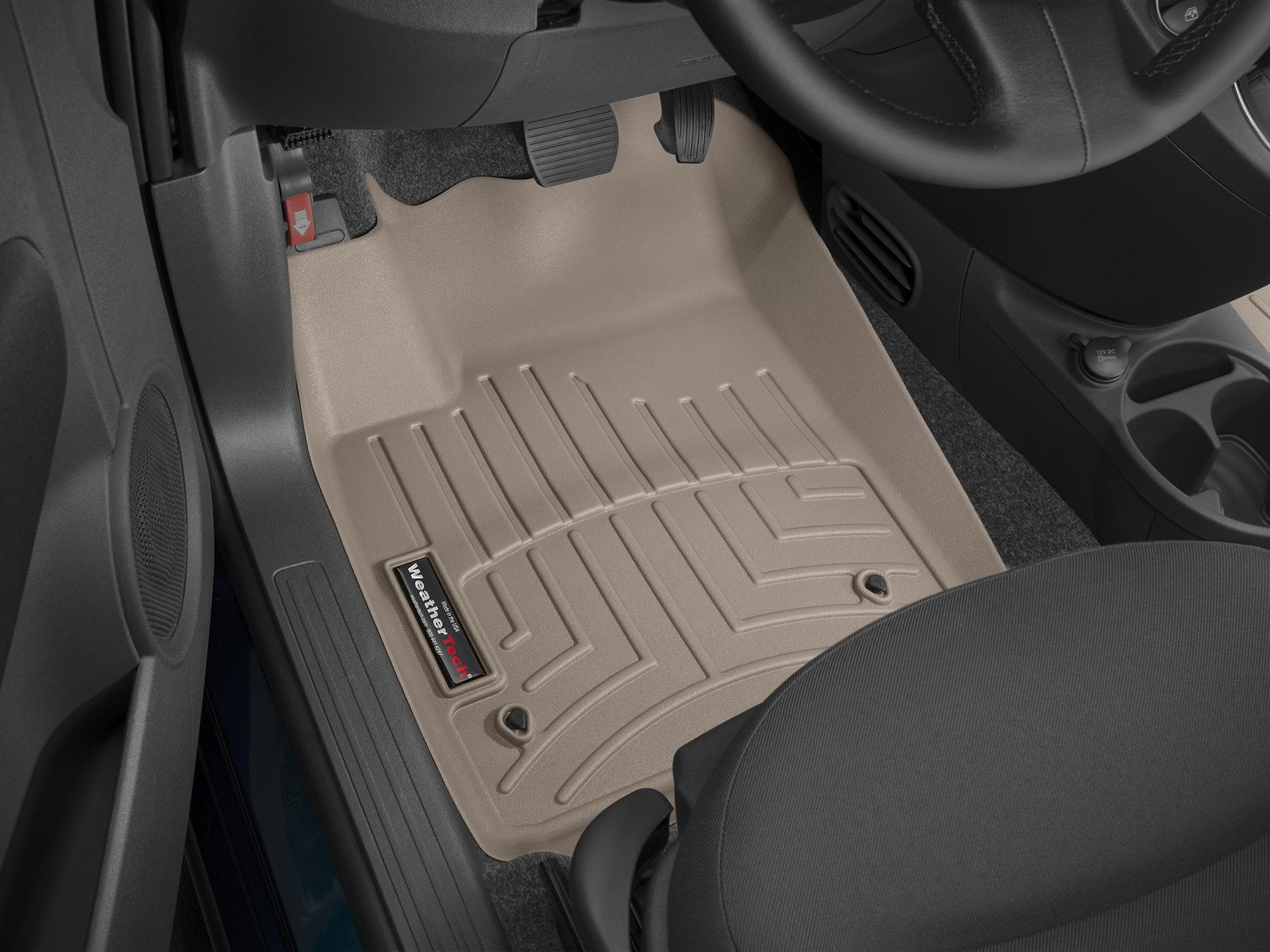 Tappeti gomma su misura bordo alto Fiat 500C 09>17 Marrone A763*