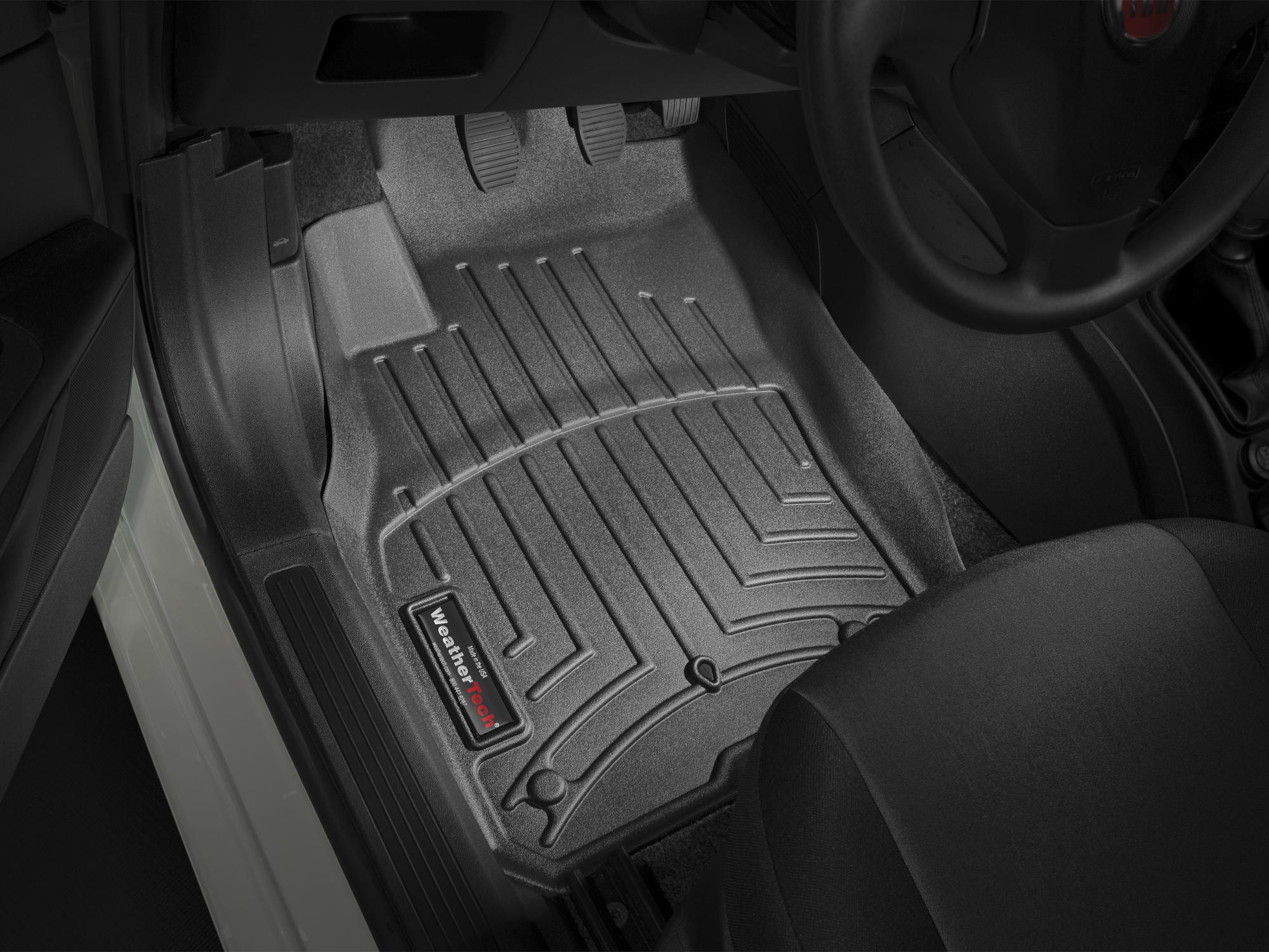 Tappeti gomma su misura bordo alto Fiat Grande Punto 05>17 Nero A803*