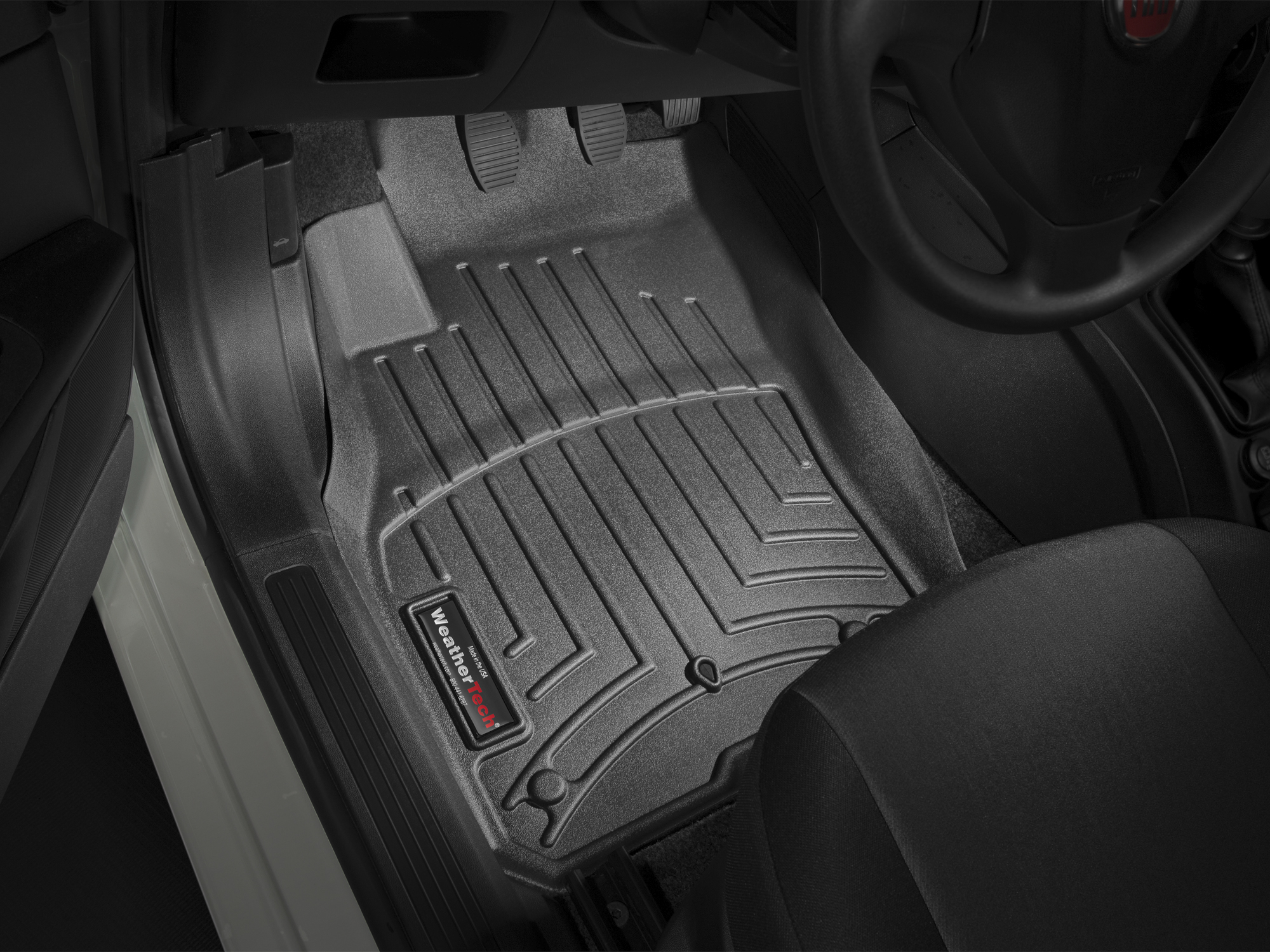 Tappeti gomma su misura bordo alto Fiat Punto EVO 09>13 Nero A834*