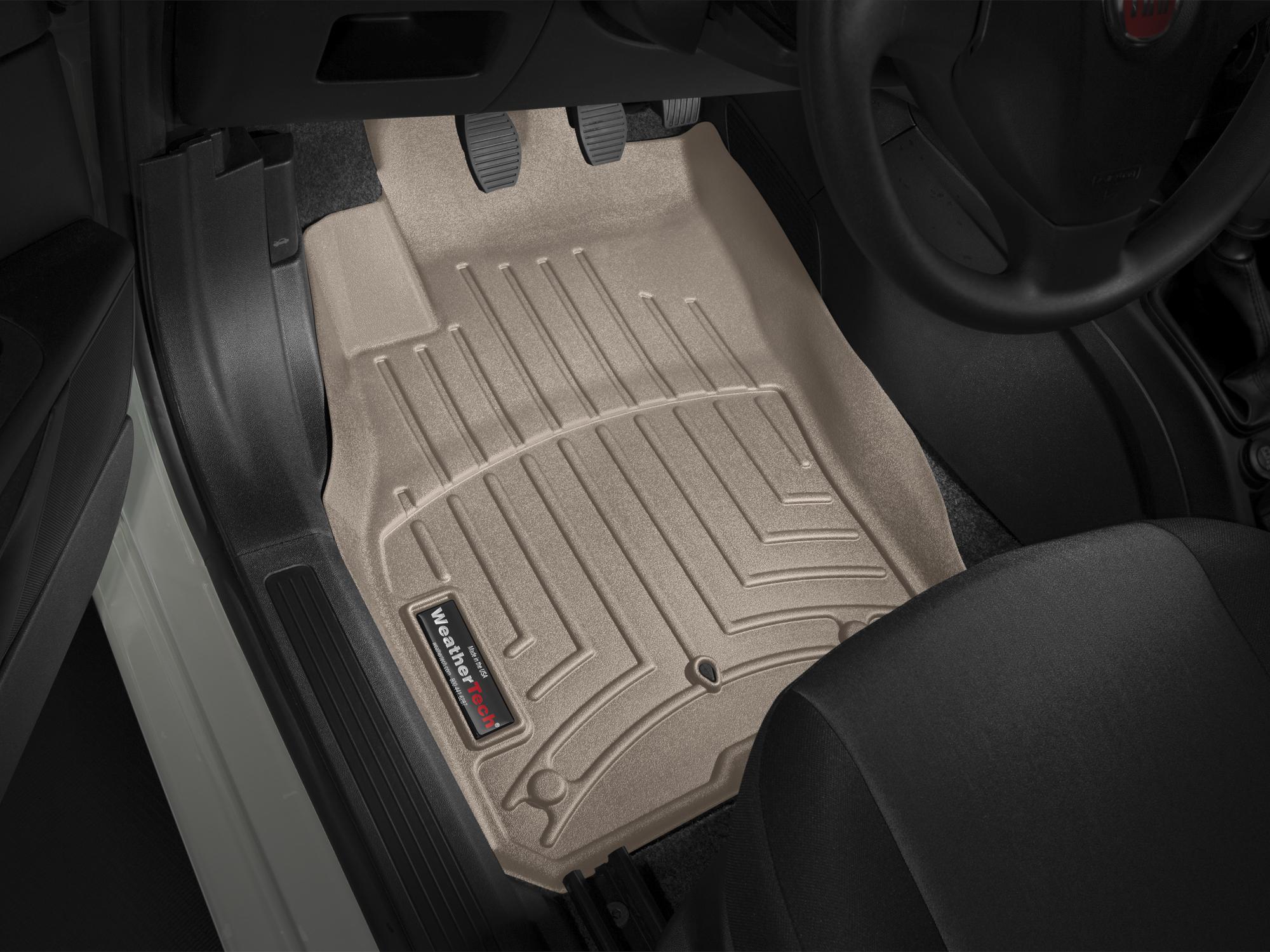 Tappeti gomma su misura bordo alto Fiat Punto EVO 09>13 Marrone A832*