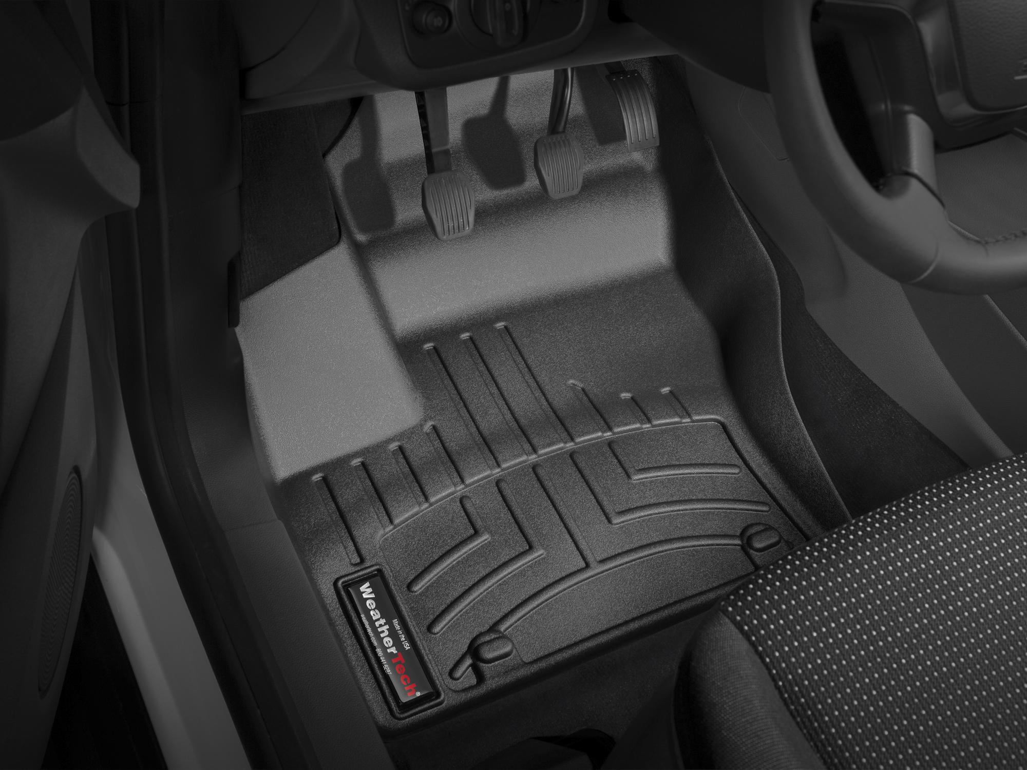 Tappeti gomma su misura bordo alto Ford C-Max 10>12 Nero A844*