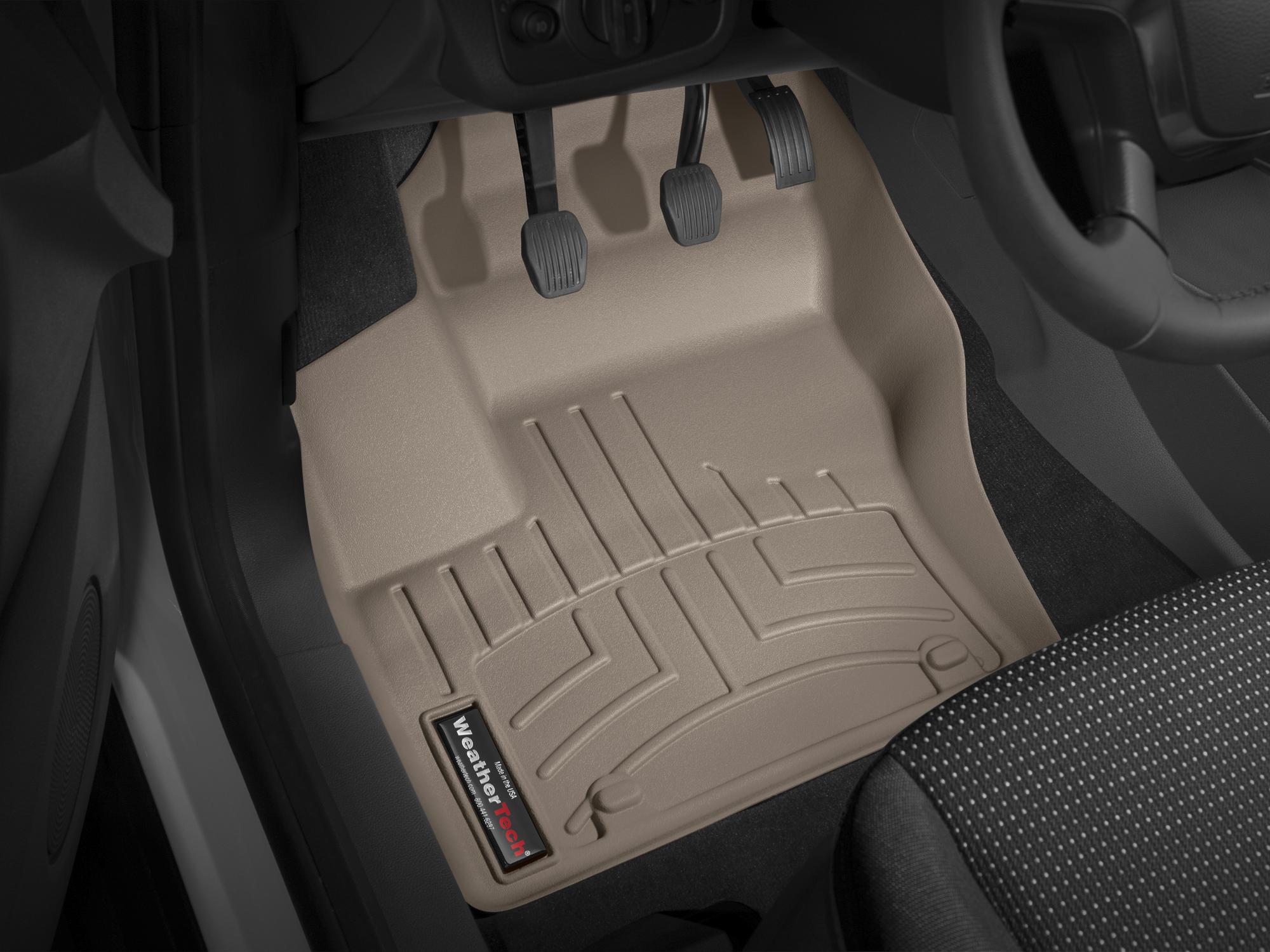Tappeti gomma su misura bordo alto Ford C-Max 10>12 Marrone A843*