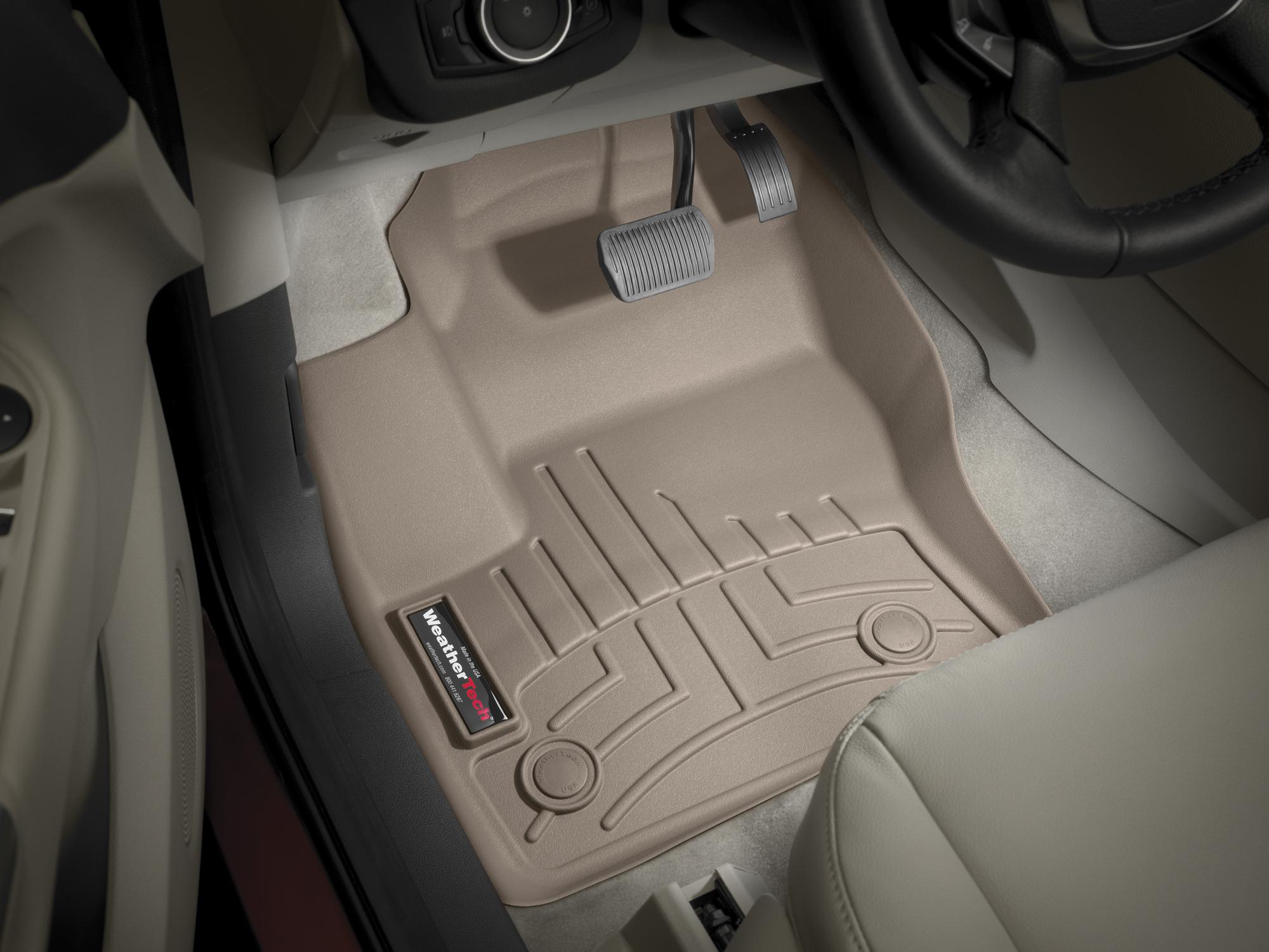 Tappeti gomma su misura bordo alto Ford C-Max 10>15 Marrone A846*
