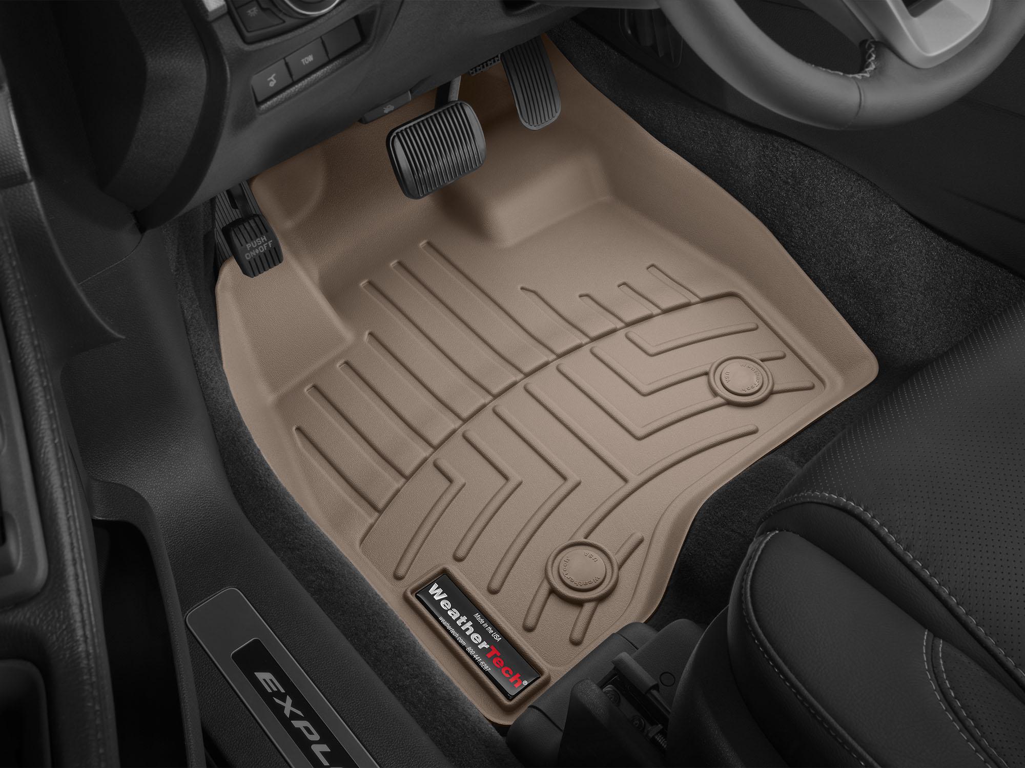 Tappeti gomma su misura bordo alto Ford Explorer 15>16 Marrone A880*