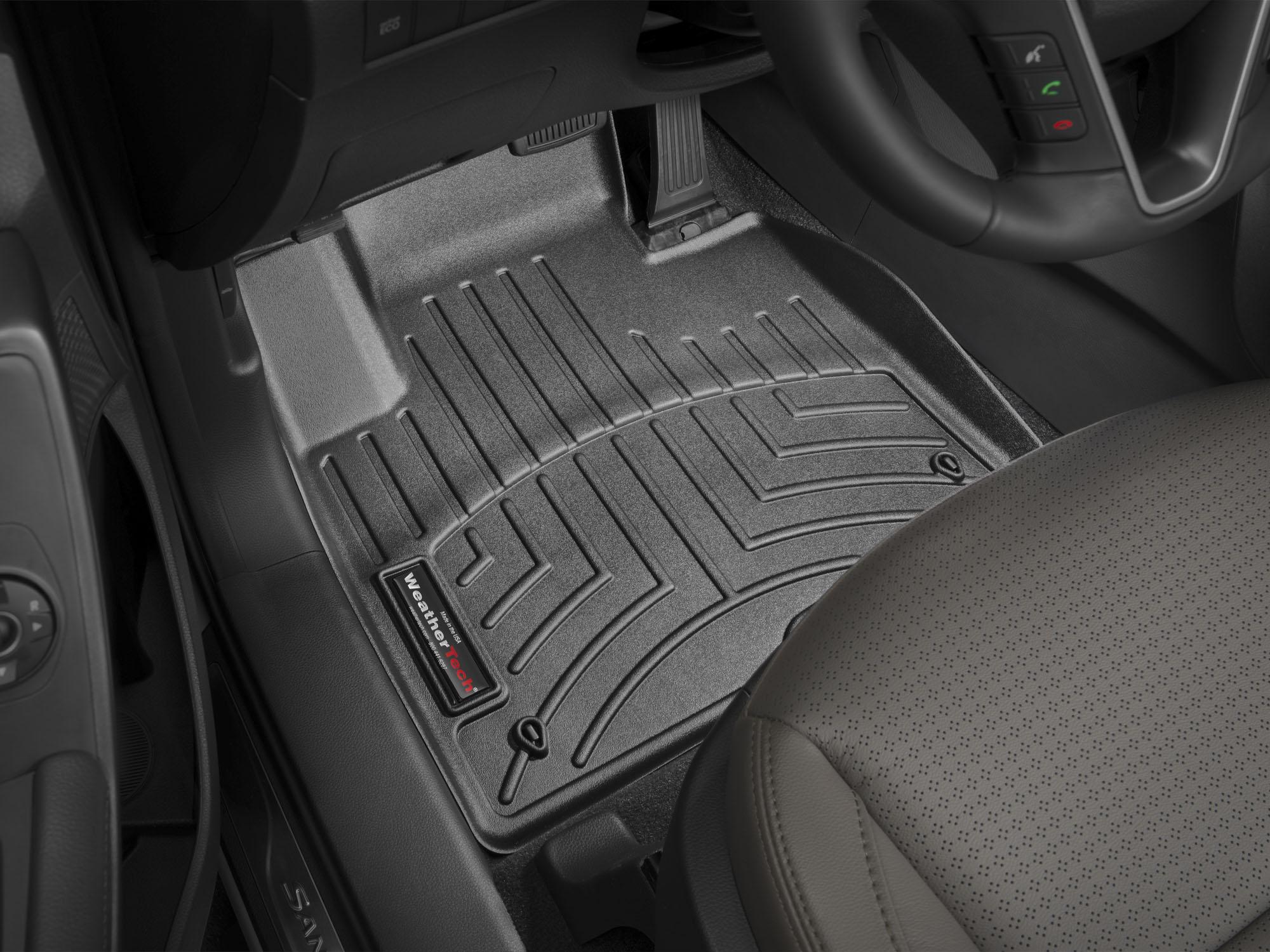Tappeti gomma su misura bordo alto Hyundai Santa Fe 12>12 Nero A1486