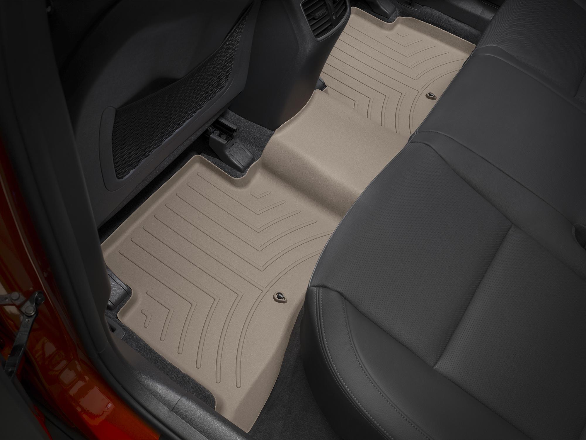 Tappeti gomma su misura bordo alto Hyundai Tucson 15>17 Marrone A1501