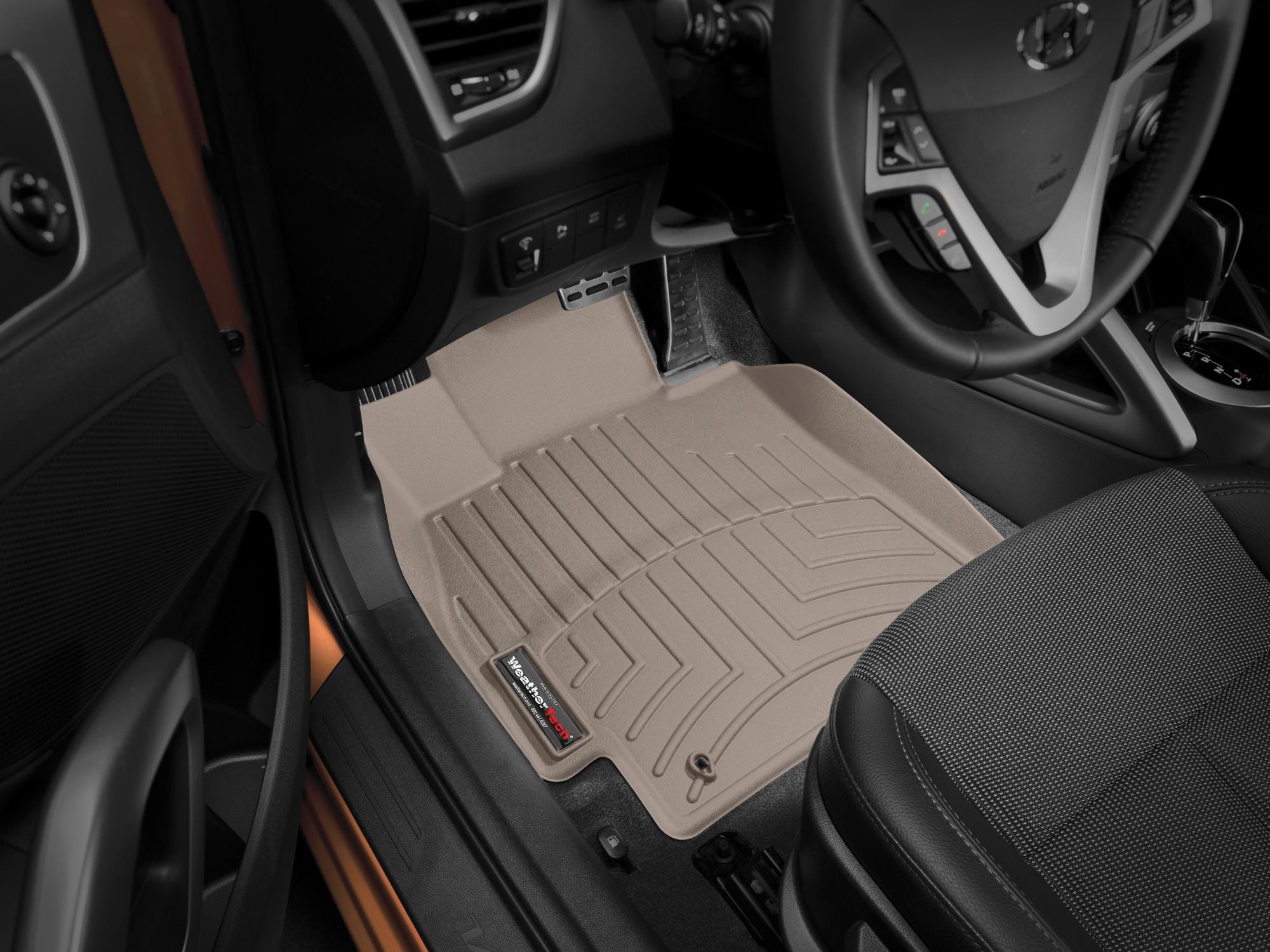 Tappeti gomma su misura bordo alto Hyundai Veloster 11>16 Marrone A1505
