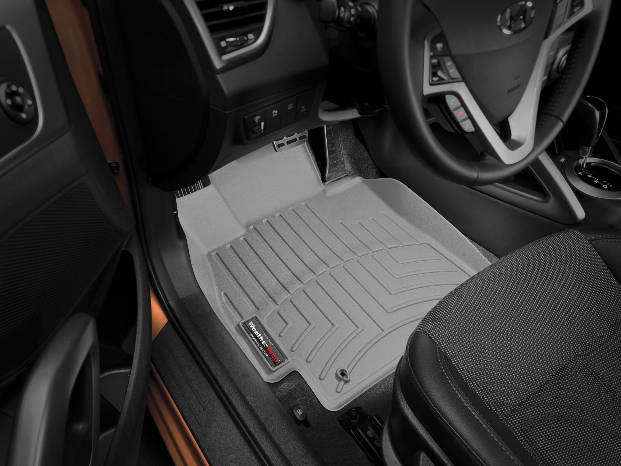 Tappeti gomma su misura bordo alto Hyundai Veloster 11>16 Grigio A1504