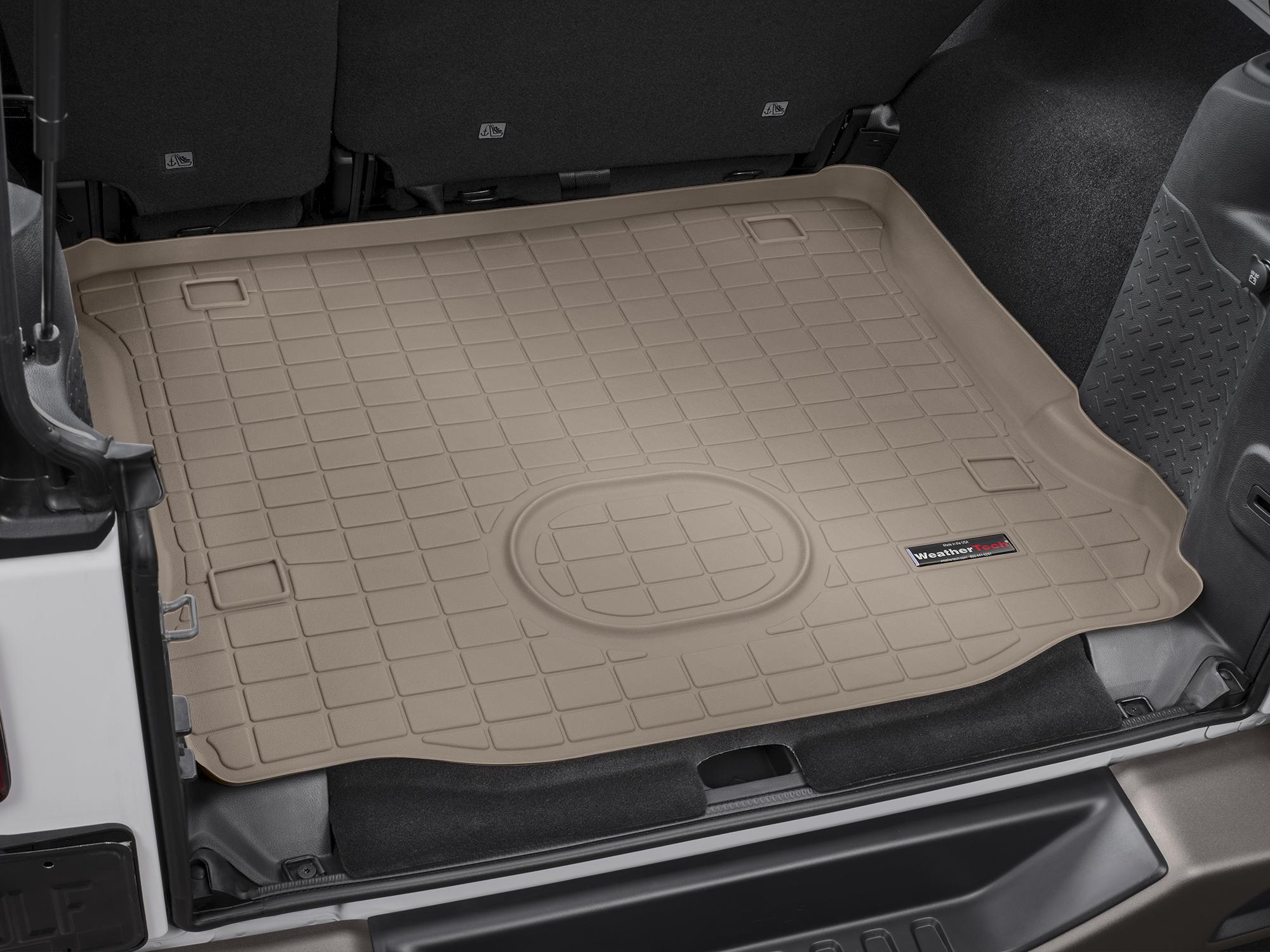 Jeep Wrangler 2015>2017 Vasca proteggi baule tappeto bagagliaio marrone *662