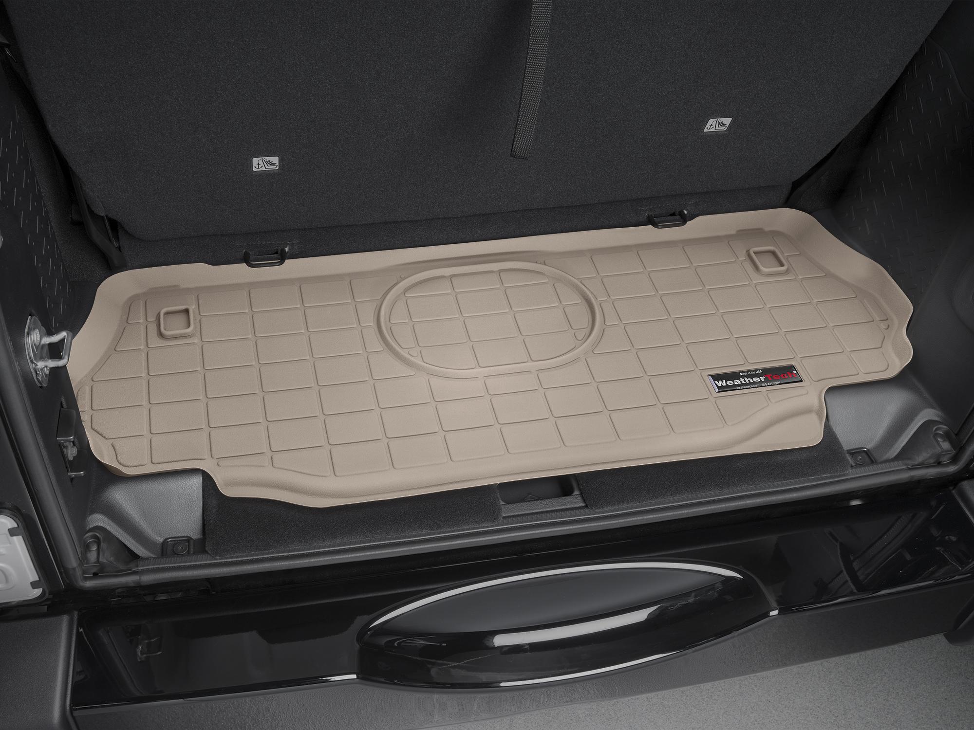 Jeep Wrangler 2015>2017 Vasca proteggi baule tappeto bagagliaio marrone *661