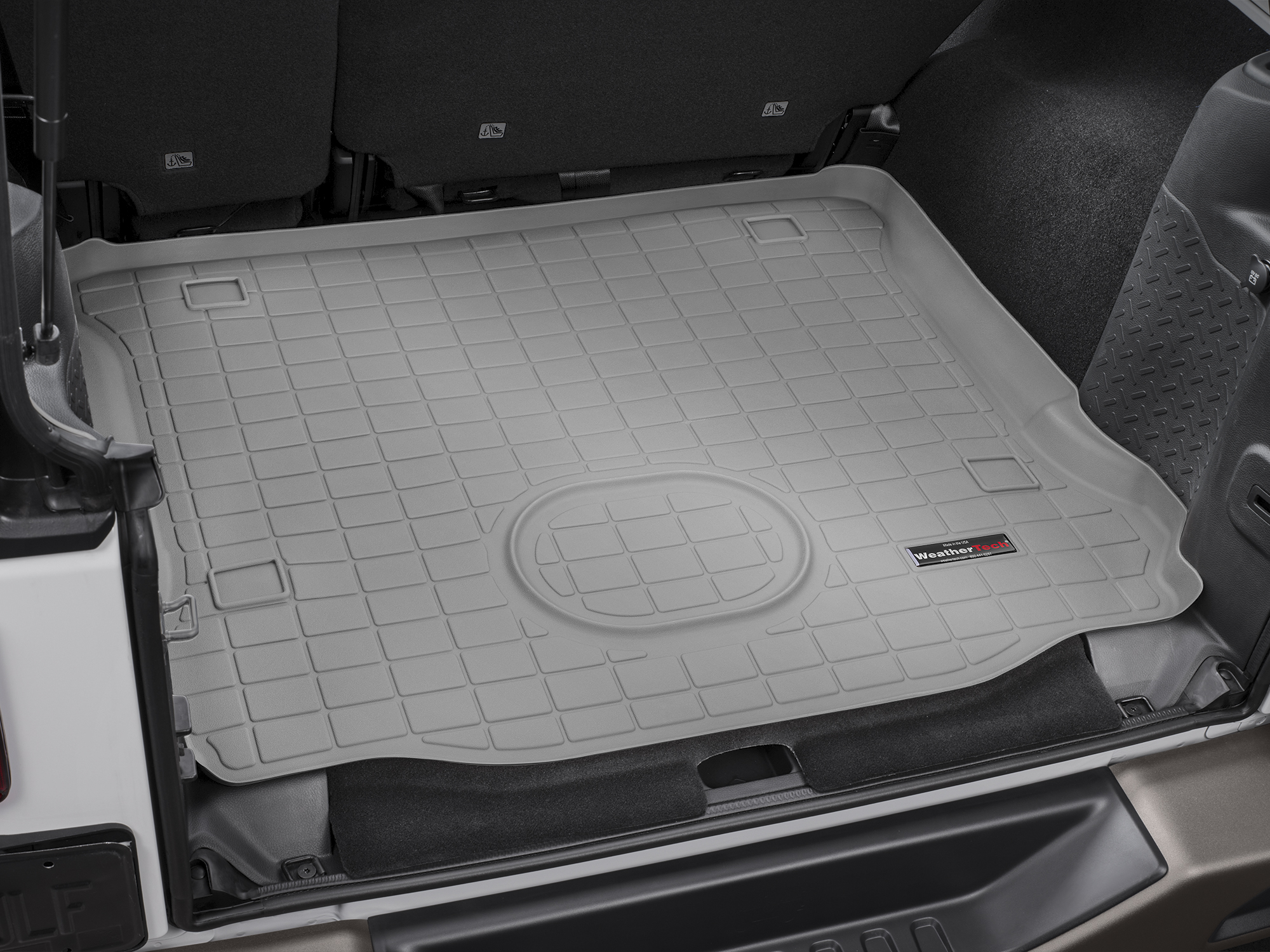 Jeep Wrangler 2015>2017 Vasca proteggi baule tappeto bagagliaio grigio *660