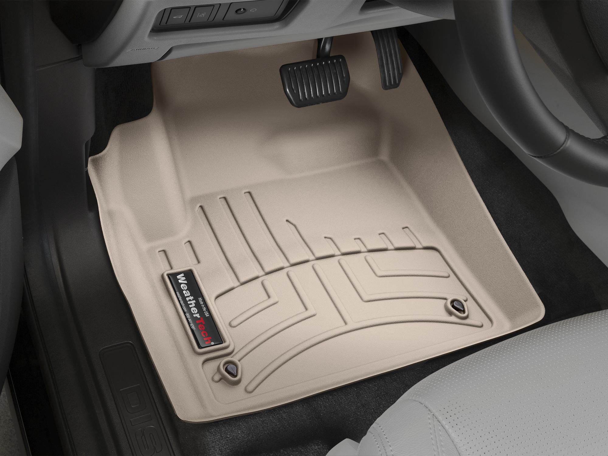 Tappeti gomma su misura bordo alto Land Rover 15>17 Marrone A1999*
