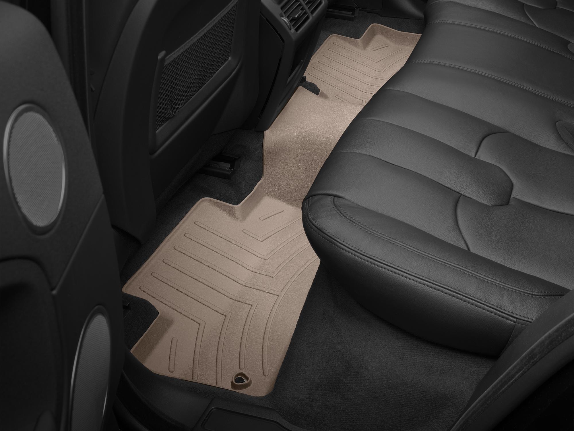 Tappeti gomma su misura bordo alto Land Rover 16>17 Marrone A2008*