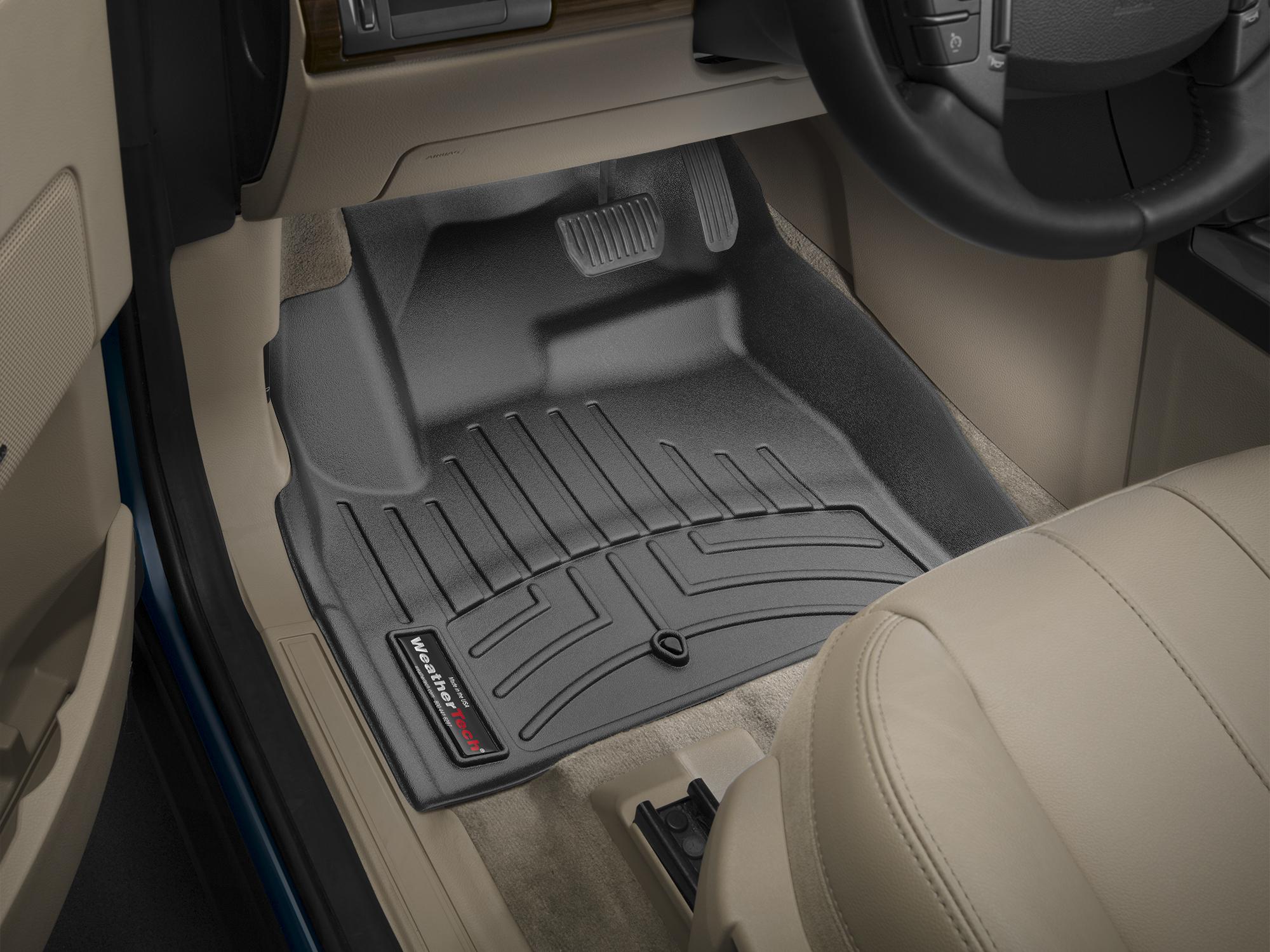 Tappeti gomma su misura bordo alto Land Rover 13>15 Nero A1978*
