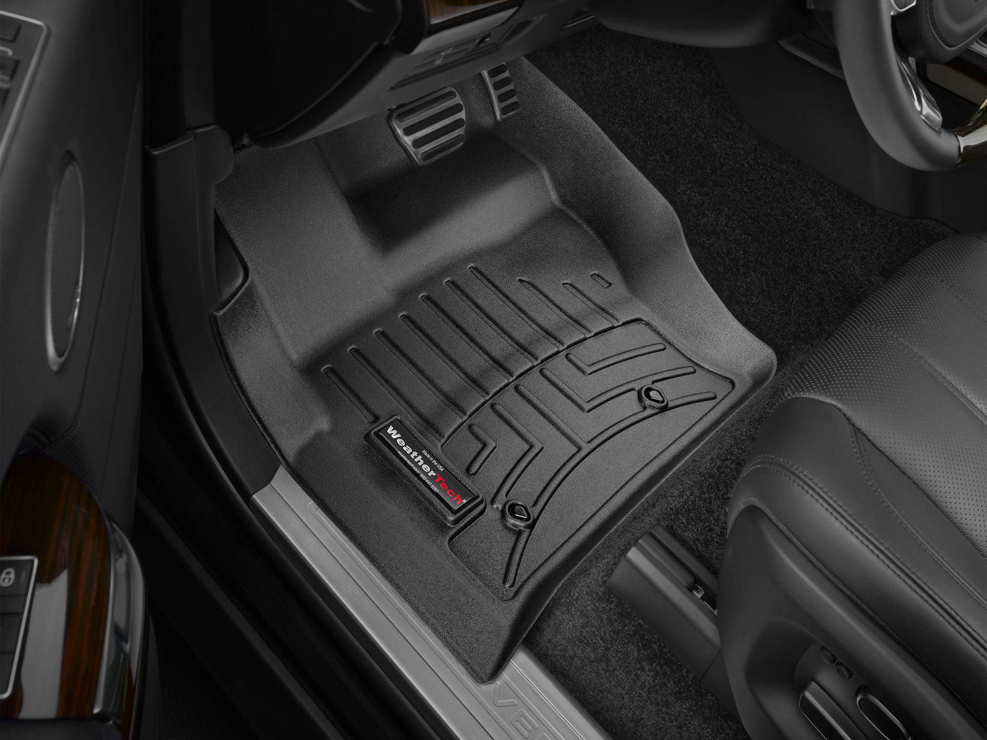 Tappeti gomma su misura bordo alto Land Rover 13>13 Nero A1974*