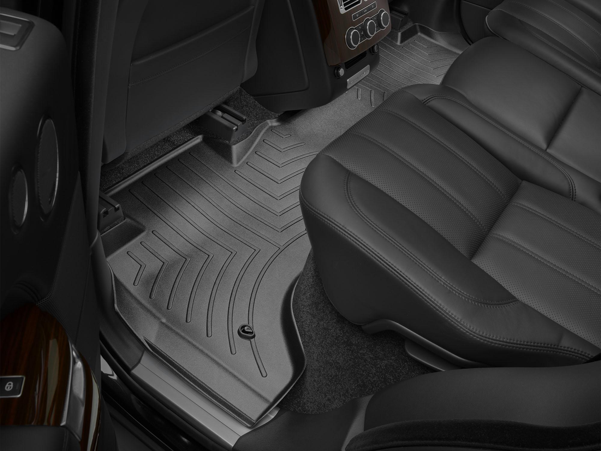 Tappeti gomma su misura bordo alto Land Rover 13>17 Nero A1990*
