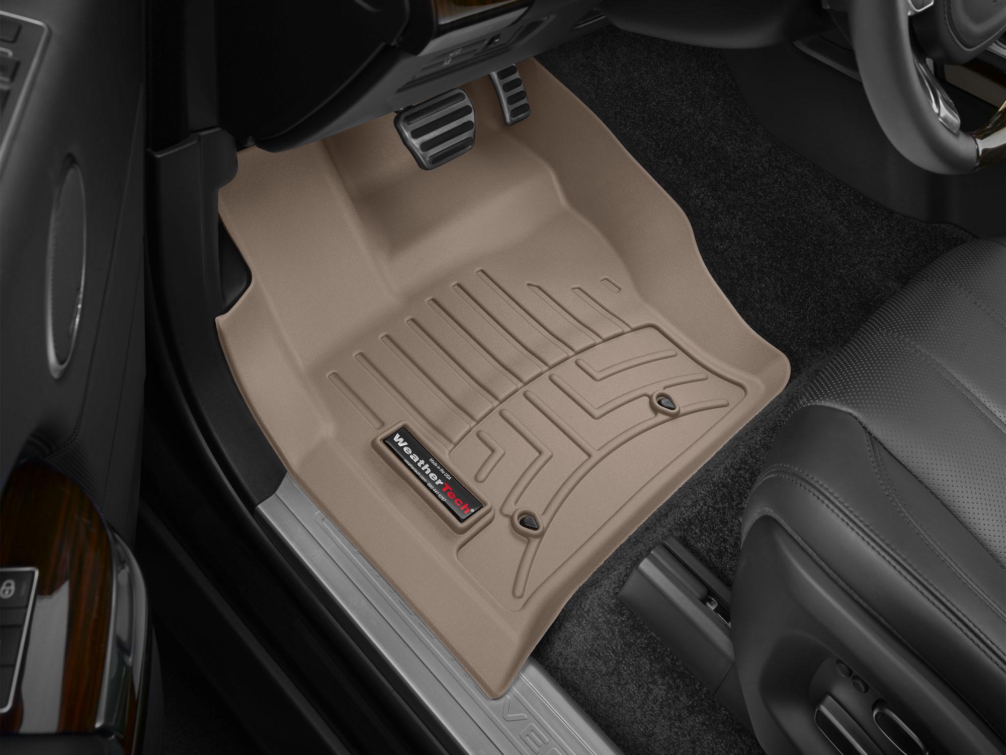 Tappeti gomma su misura bordo alto Land Rover 14>17 Marrone A1993*