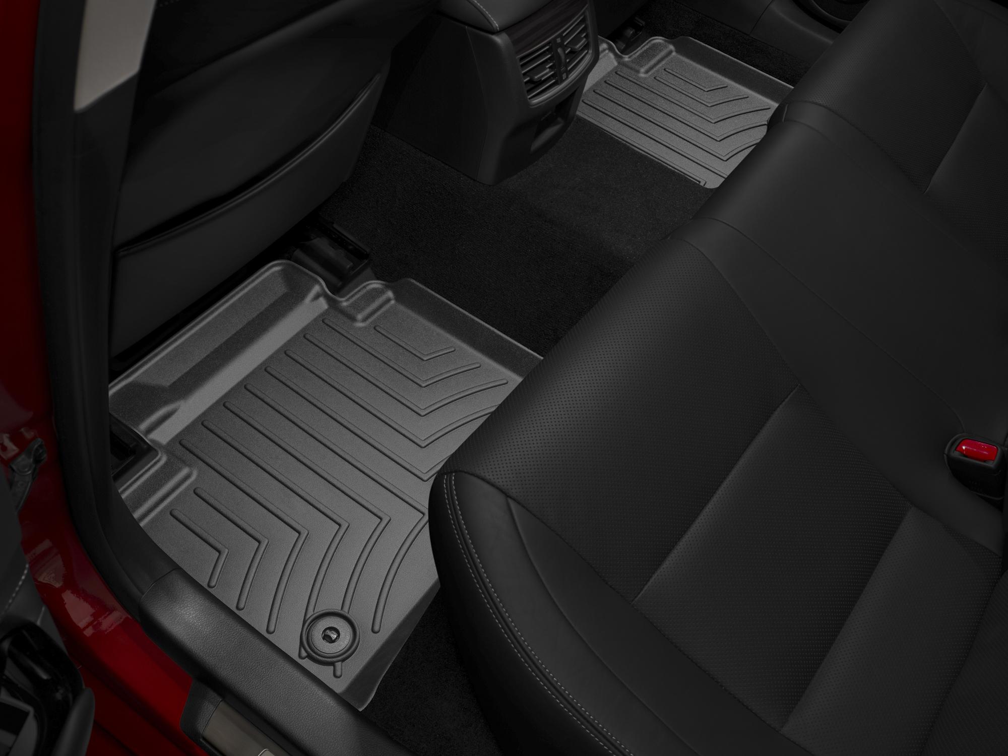 Tappeti gomma su misura bordo alto Lexus GS 13>17 Nero A2019*