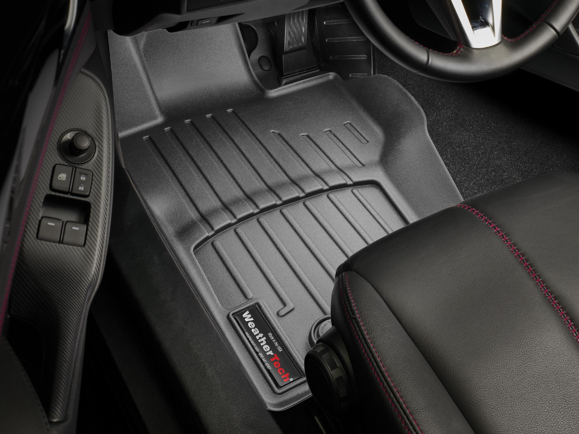 Tappeti gomma su misura bordo alto Fiat 124 Spider 16>17 Nero A750*