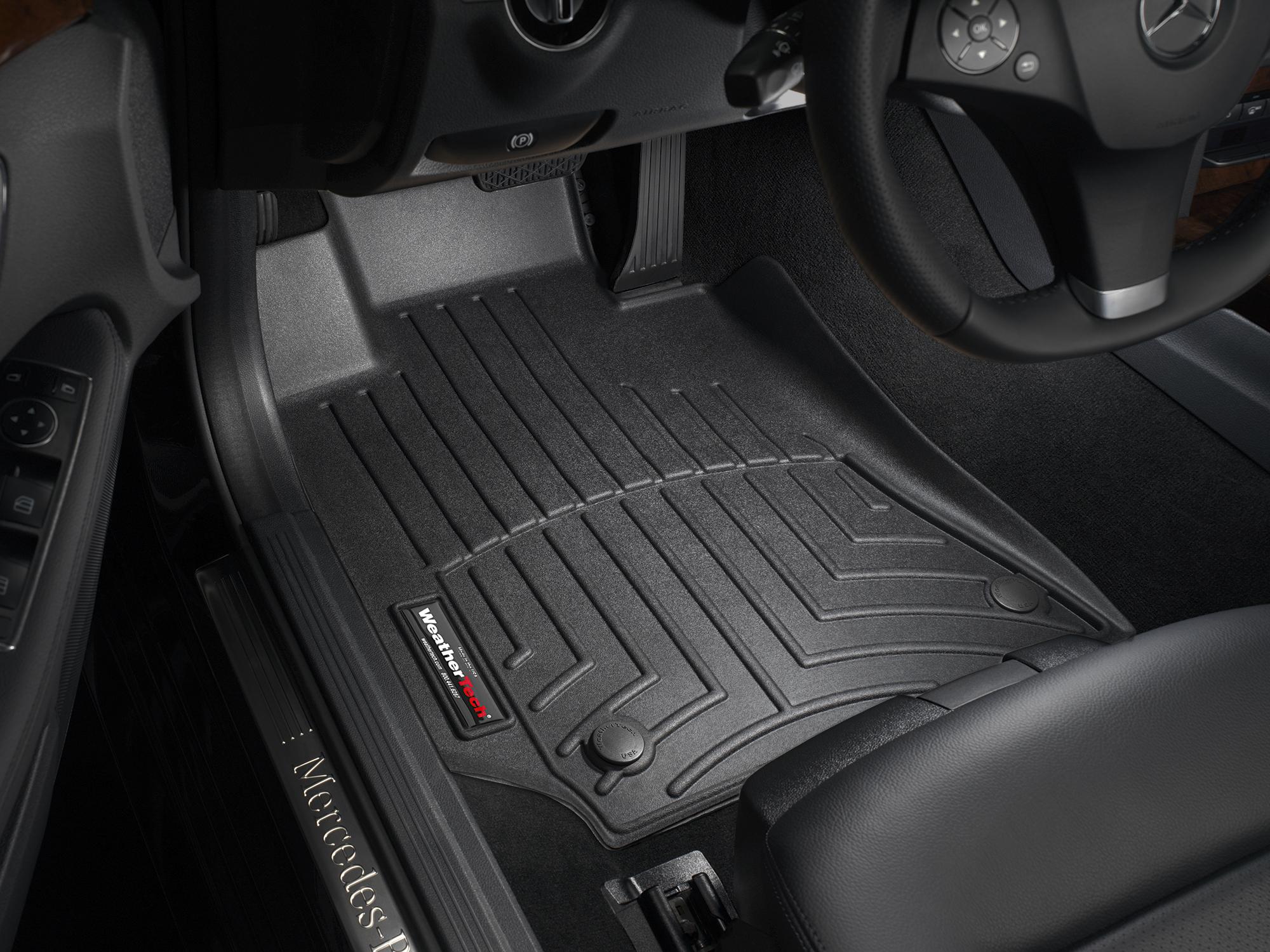 Tappeti gomma su misura bordo alto Mercedes CLS-Class 15>17 Nero A2343*