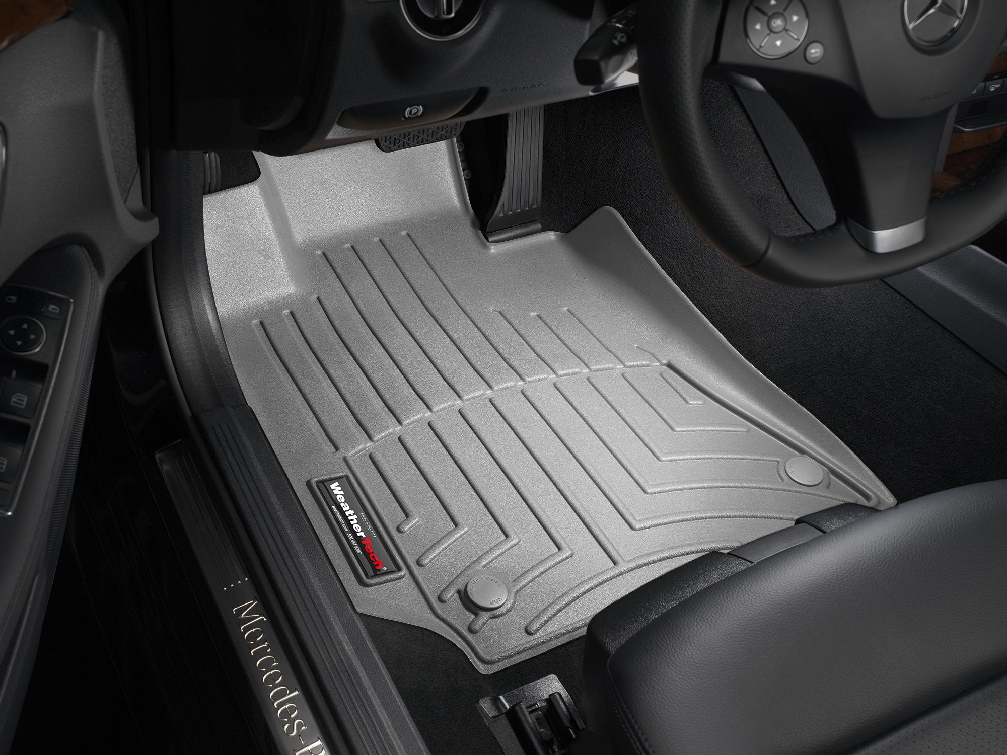 Tappeti gomma su misura bordo alto Mercedes CLS-Class 15>17 Grigio A2341*