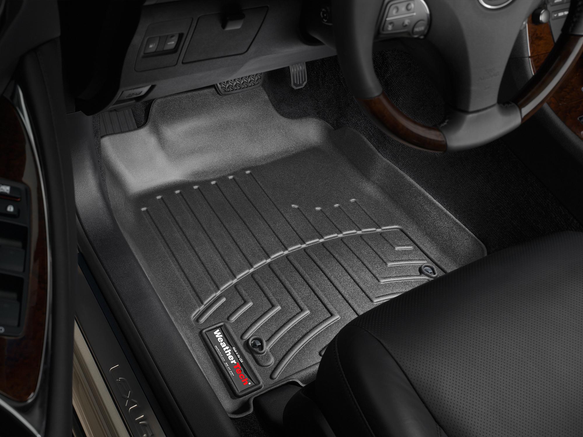 Tappeti gomma su misura bordo alto Lexus ES 07>12 Nero A2013*