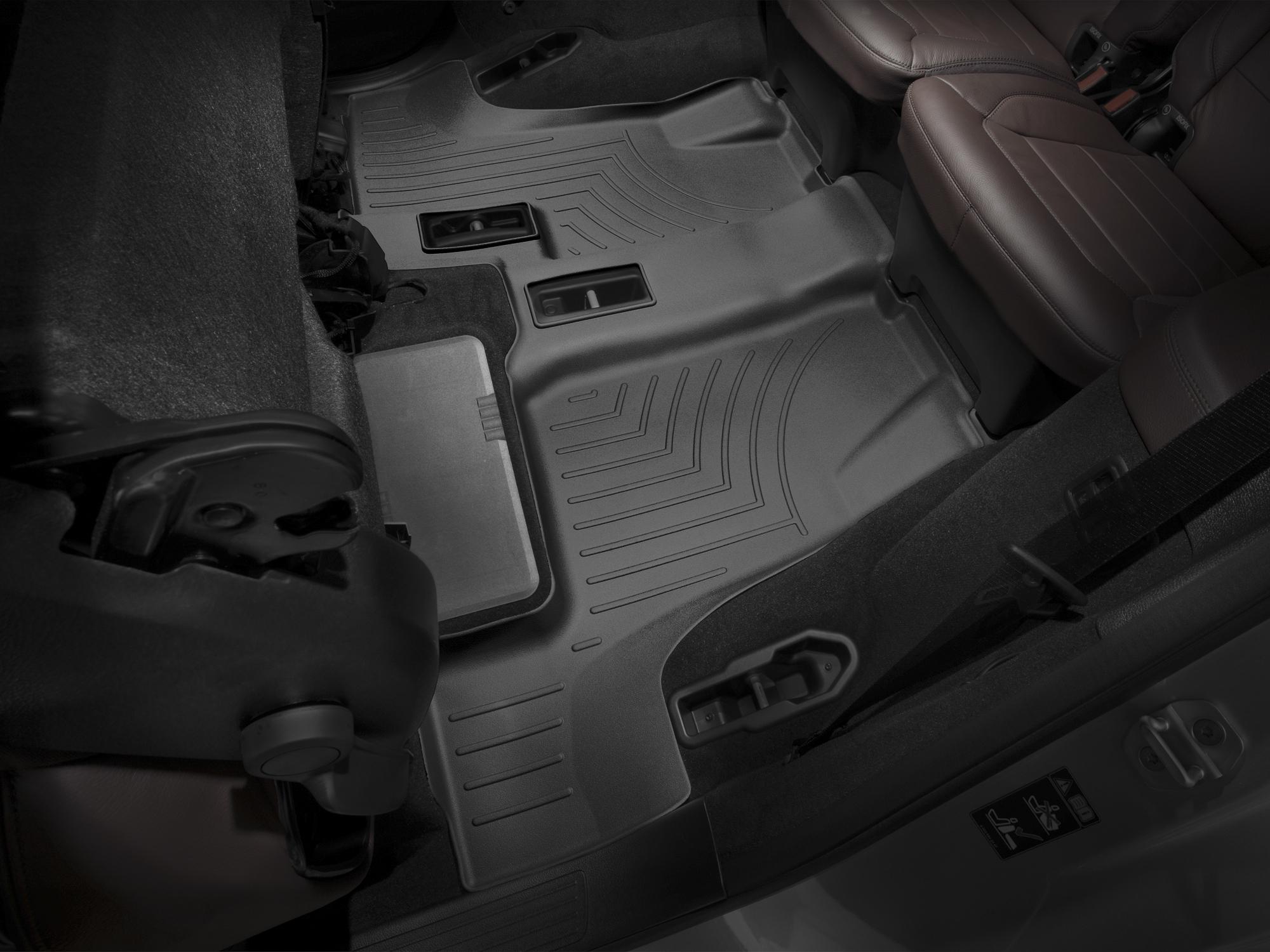 Tappeti gomma su misura bordo alto Mercedes GLS-Class 15>17 Nero A2518