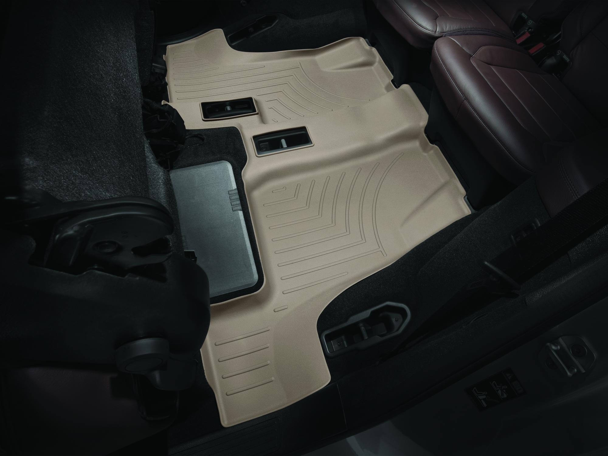 Tappeti gomma su misura bordo alto Mercedes GLS-Class 15>17 Marrone A2514