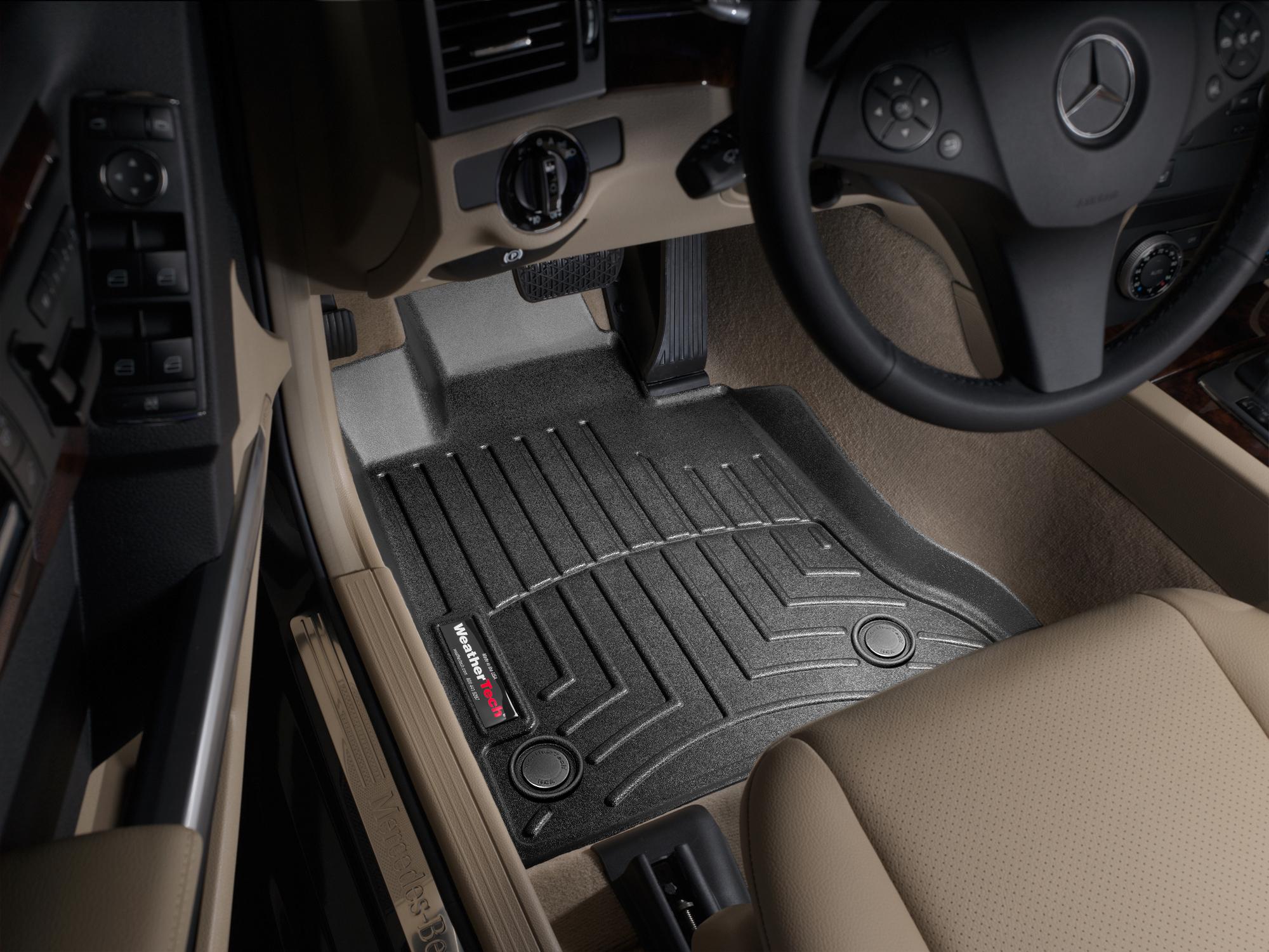 Tappeti gomma su misura bordo alto Mercedes GLK-Class 09>11 Nero A2490