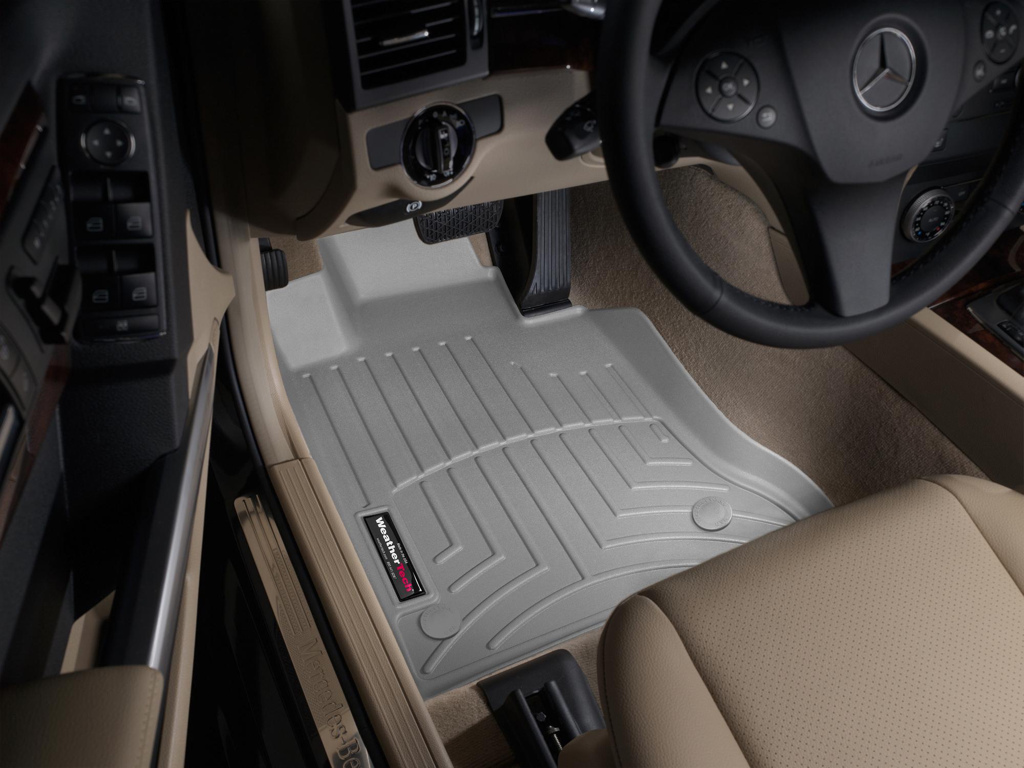 Tappeti gomma su misura bordo alto Mercedes GLK-Class 13>15 Grigio A2504