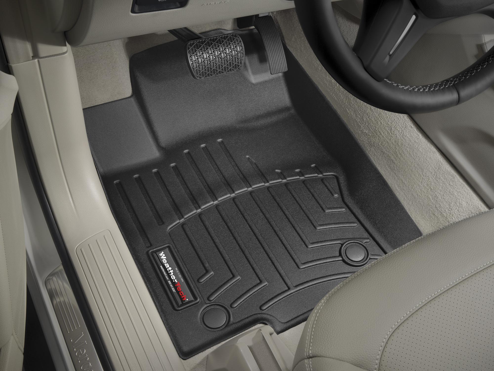 Tappeti gomma su misura bordo alto Mercedes ML-Class 12>15 Nero A2540