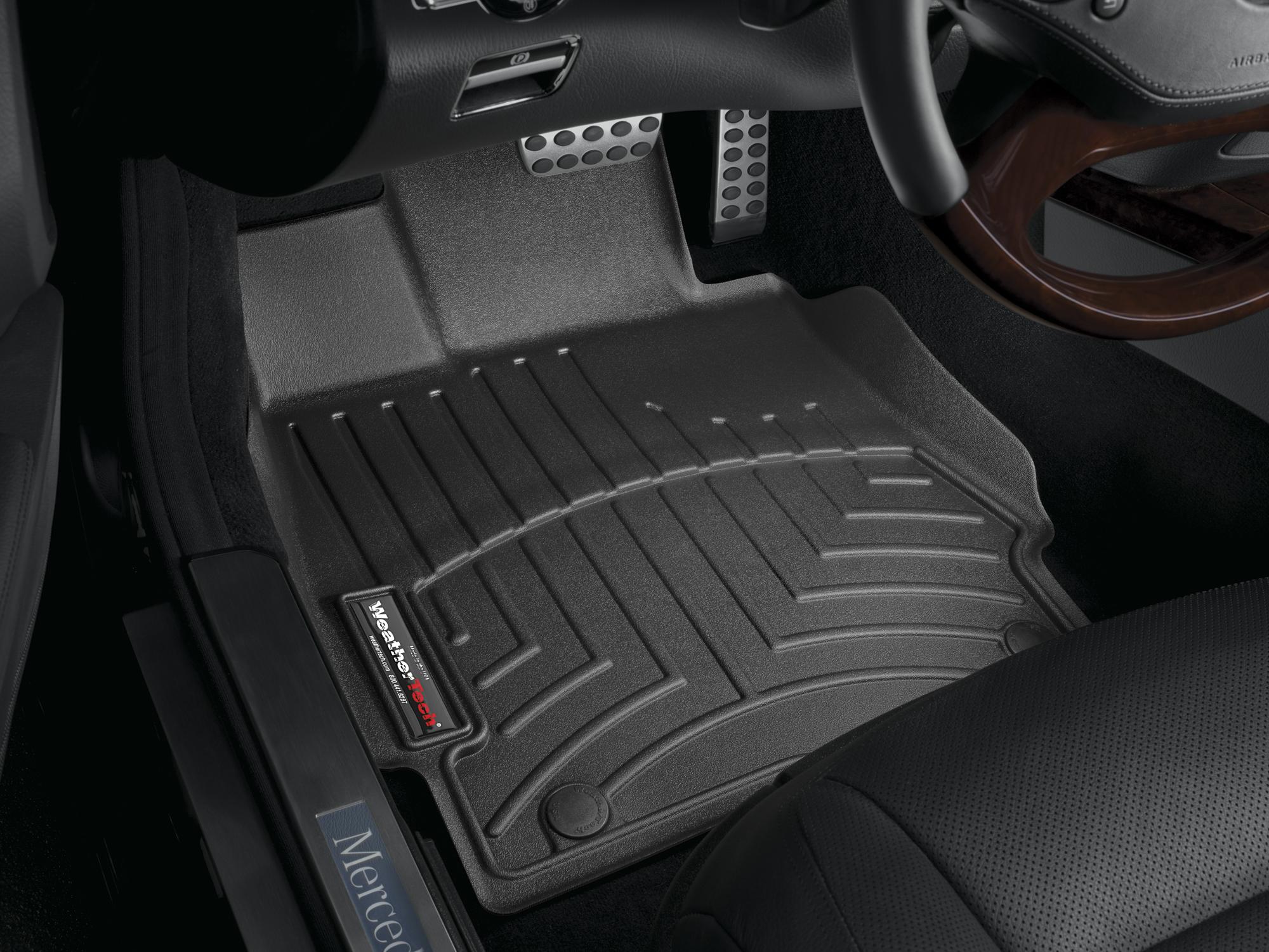 Tappeti gomma su misura bordo alto Mercedes S-Class 06>12 Nero A2560
