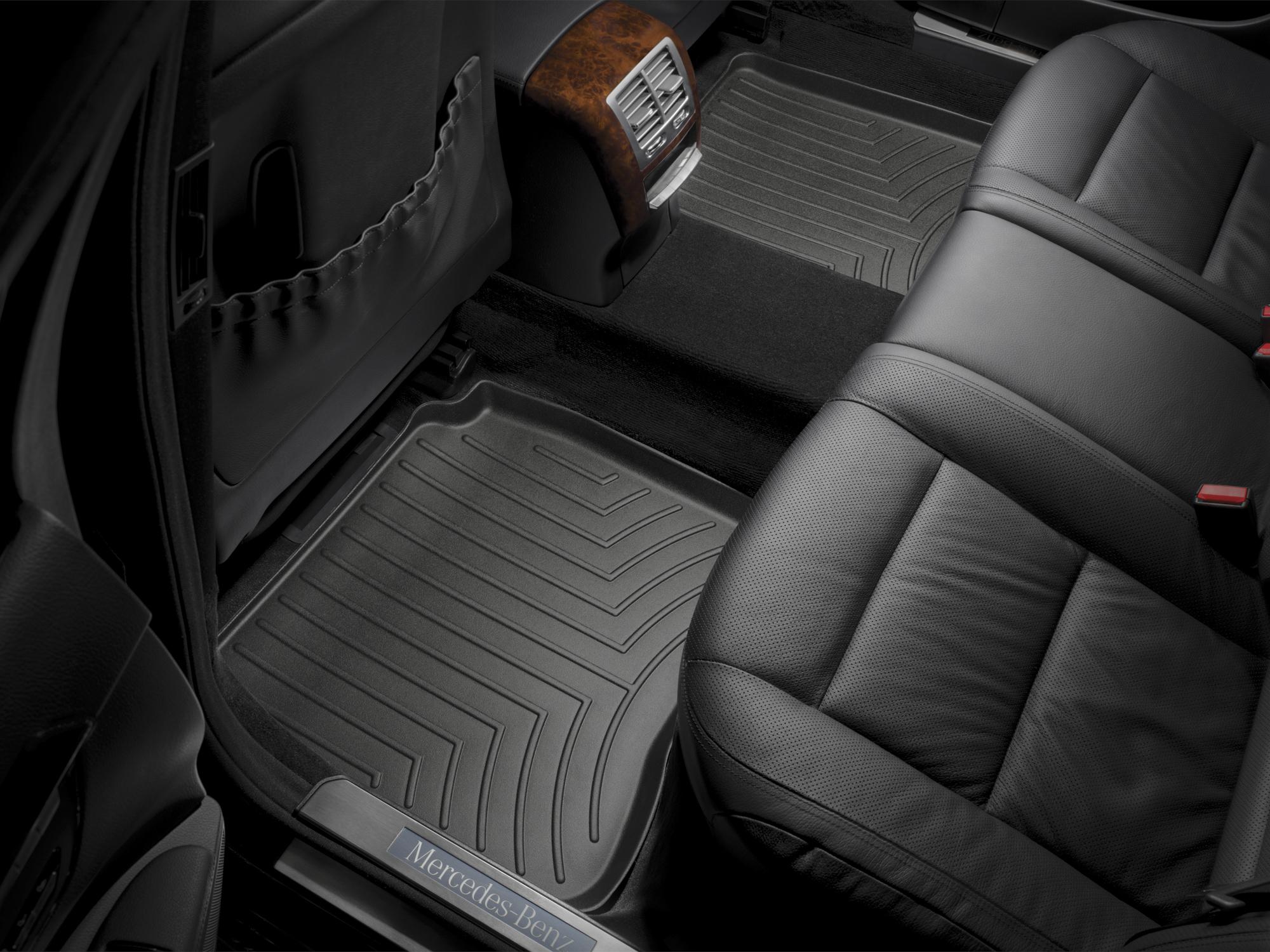Tappeti gomma su misura bordo alto Mercedes S-Class 06>12 Nero A2562