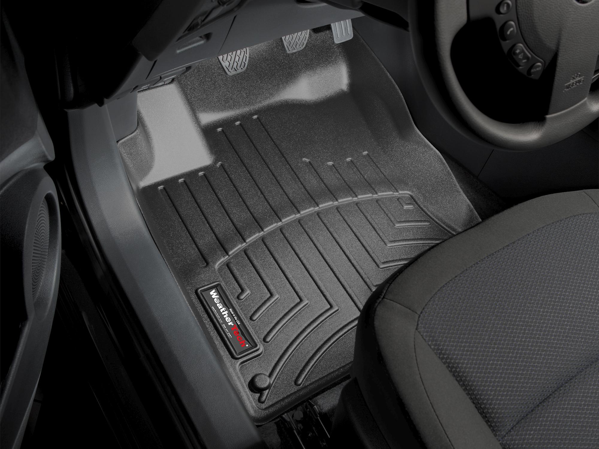 Tappeti gomma su misura bordo alto Nissan Qashqai +2 09>12 Nero A2912