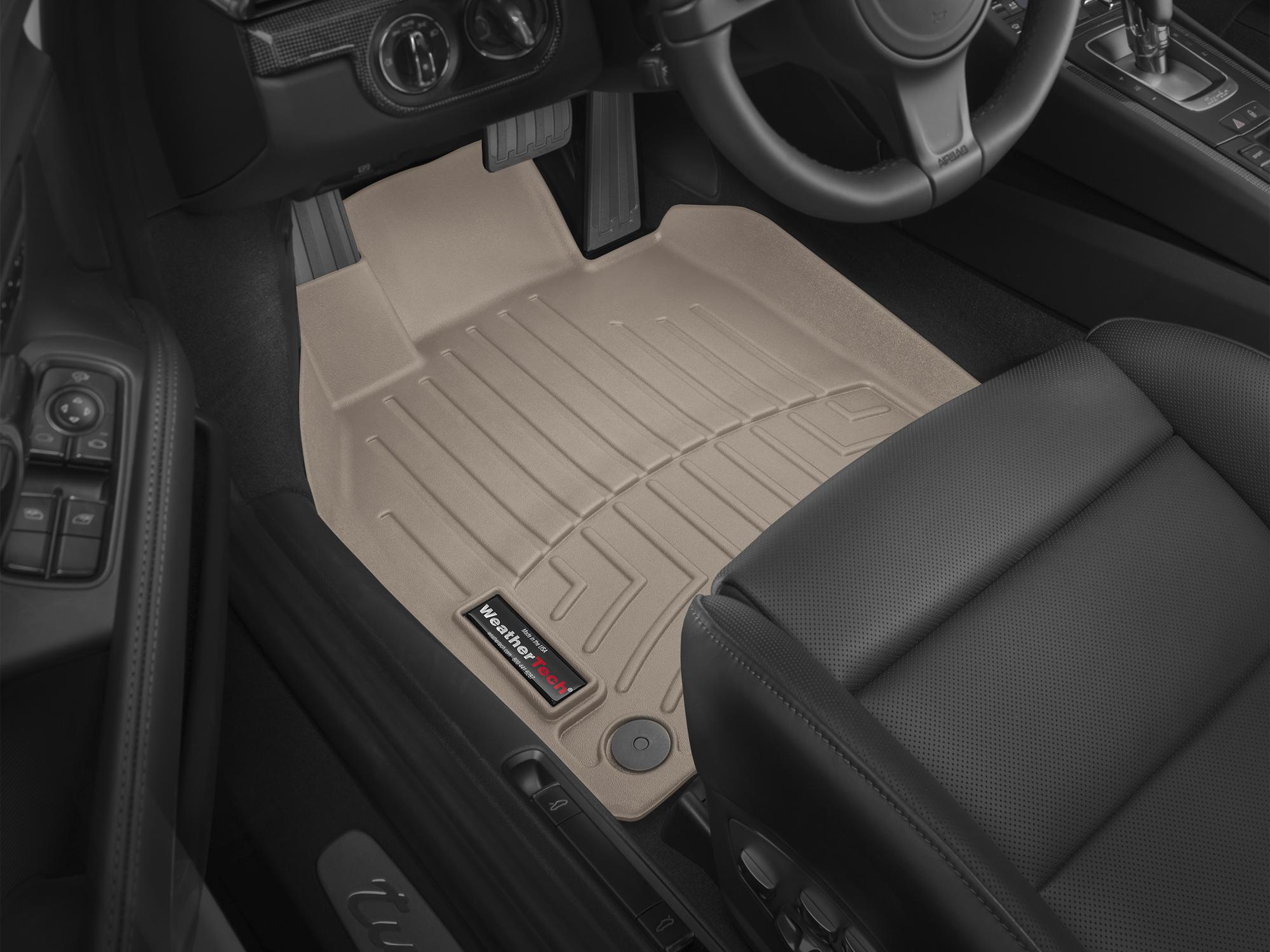 Tappeti gomma su misura bordo alto Porsche® Cayman® 13>16 Marrone A3161
