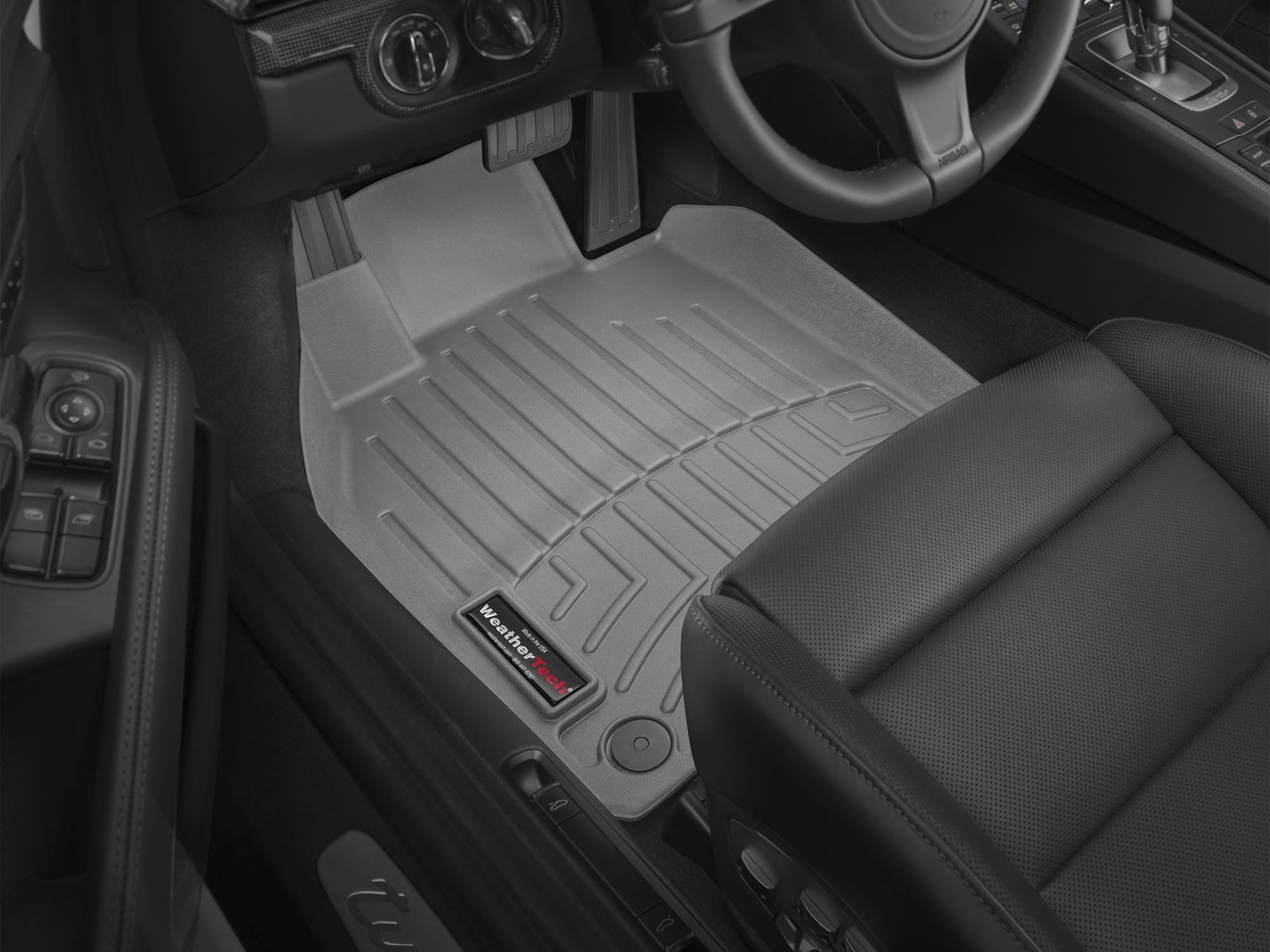 Tappeti gomma su misura bordo alto Porsche® 718 Cayman 16>17 Grigio A3072