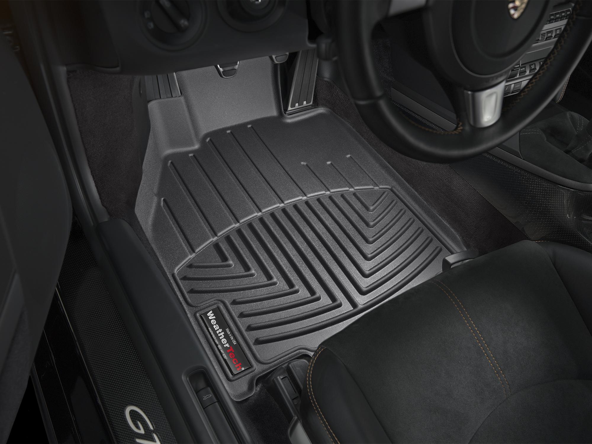 Tappeti gomma su misura bordo alto Porsche® Boxster® 05>12 Nero A3092