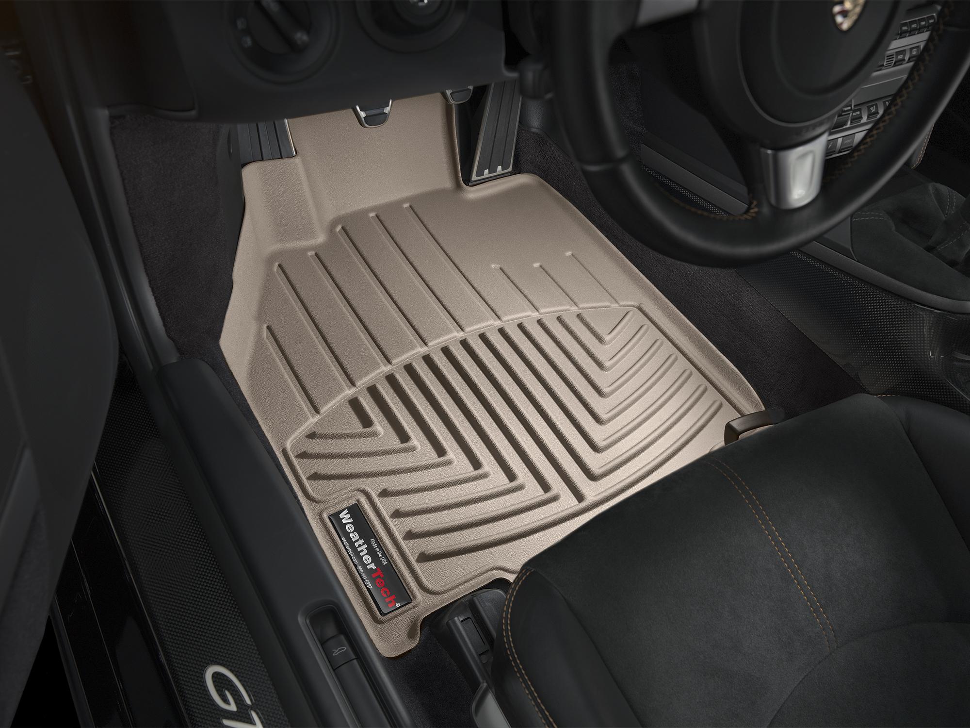 Tappeti gomma su misura bordo alto Porsche® Boxster® 05>12 Marrone A3091