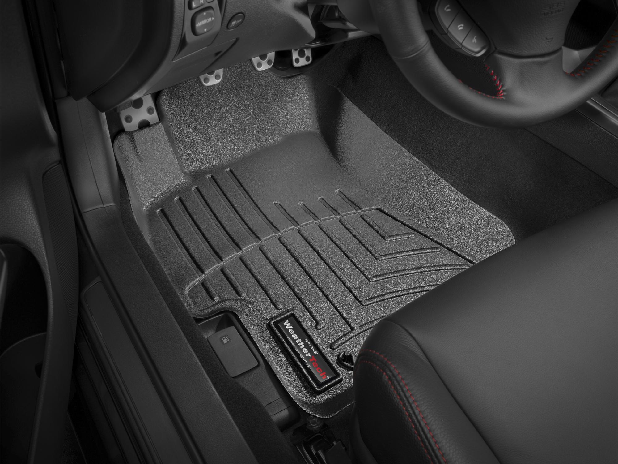 Tappeti gomma su misura bordo alto Subaru Impreza WRX STi 07>07 Nero A3467