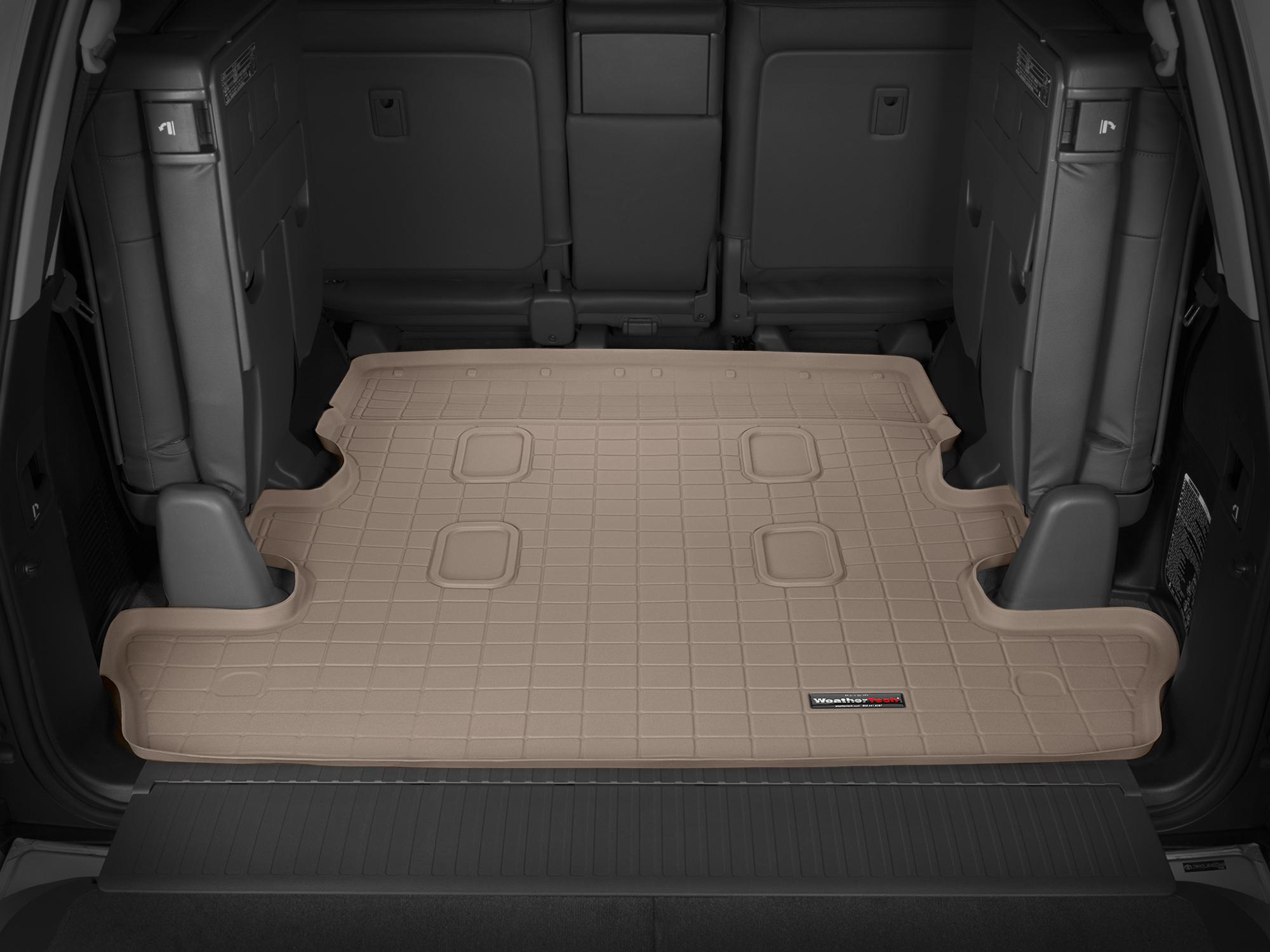 Toyota Land Cruiser V8 2008>2017 Vasca baule tappeto bagagliaio marrone *1249