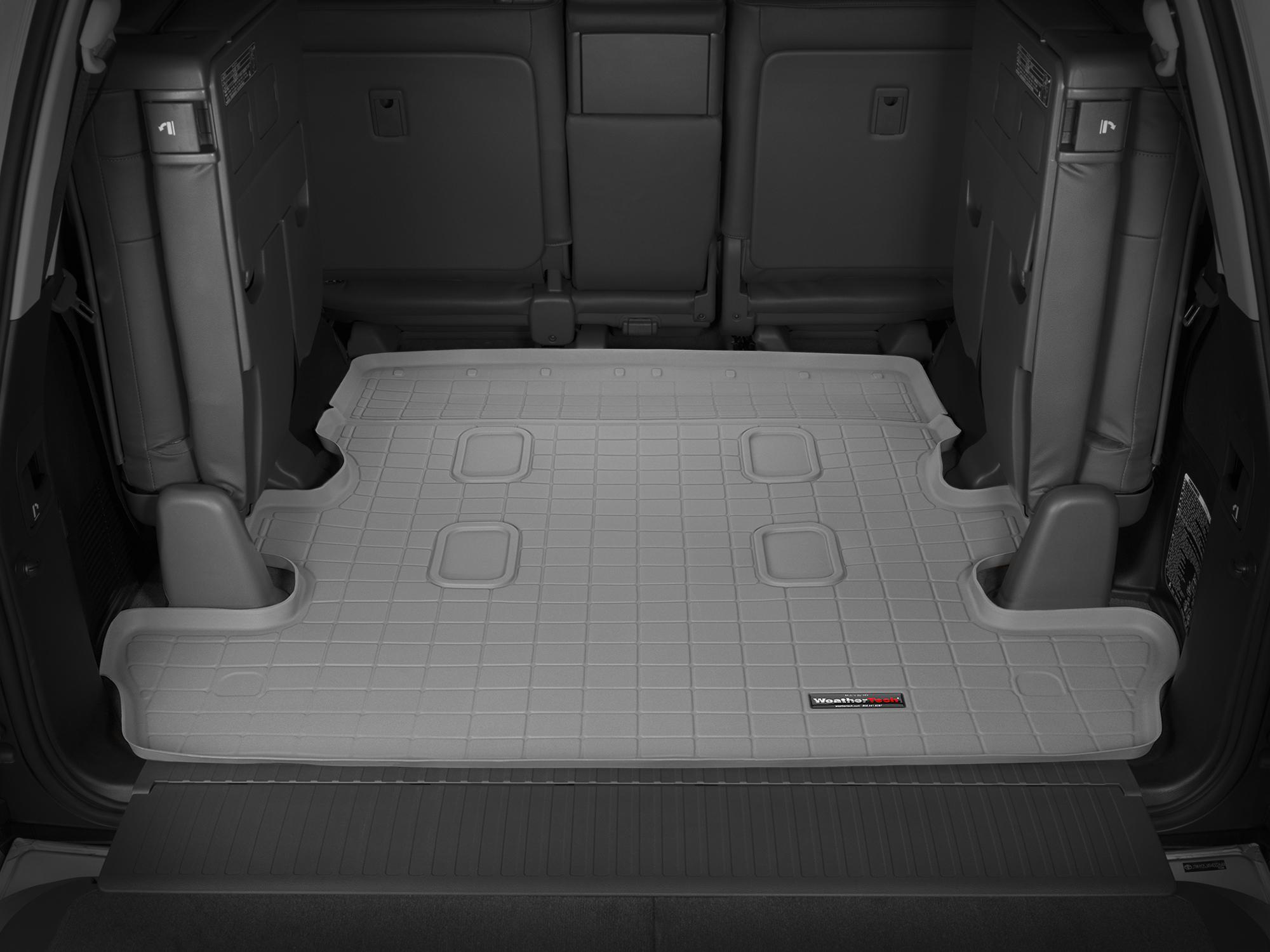 Toyota Land Cruiser V8 2008>2017 Vasca baule tappeto bagagliaio grigio *1248