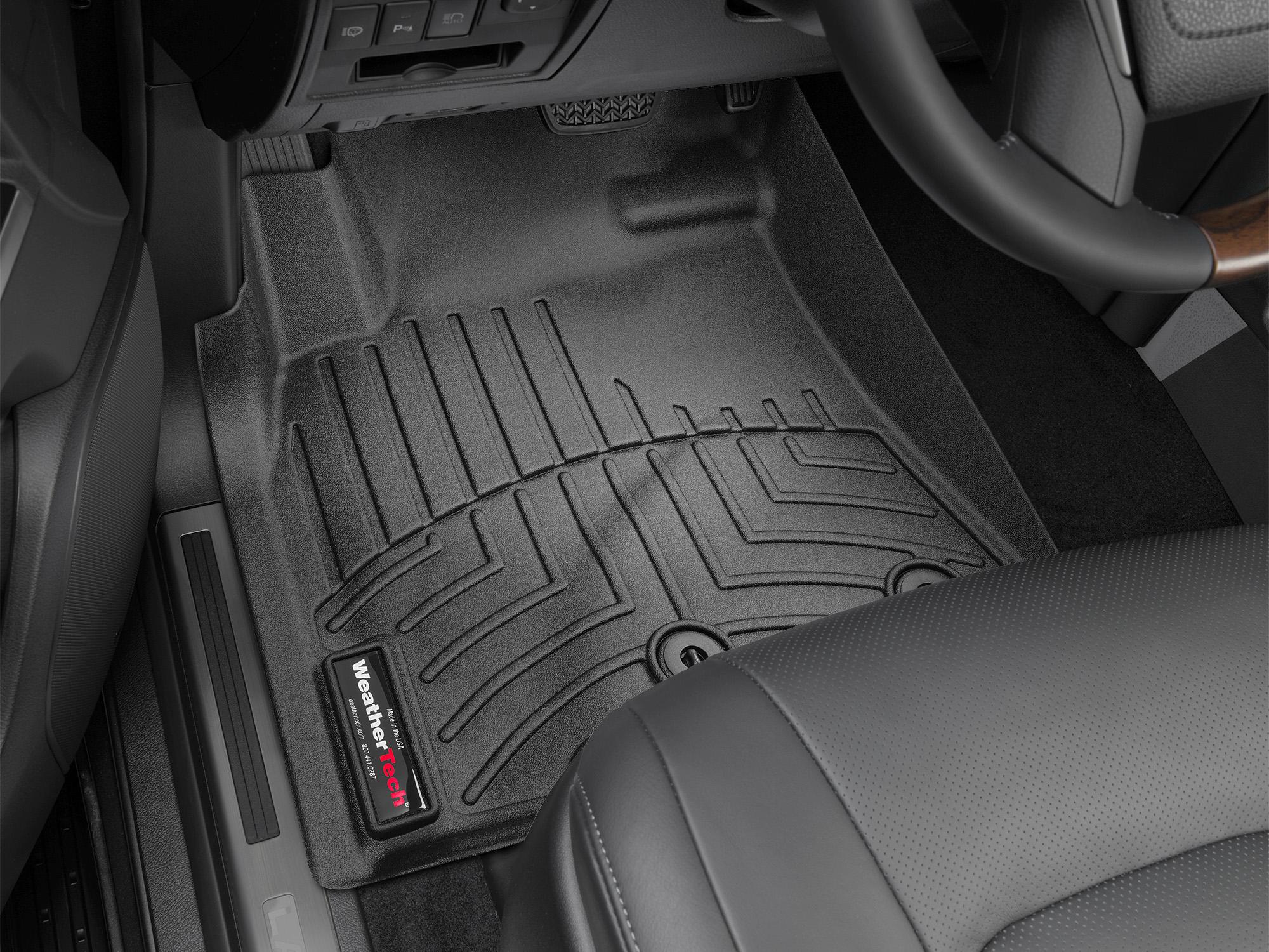 Tappeti gomma su misura bordo alto Toyota Land Cruiser V8 13>17 Nero A3716*