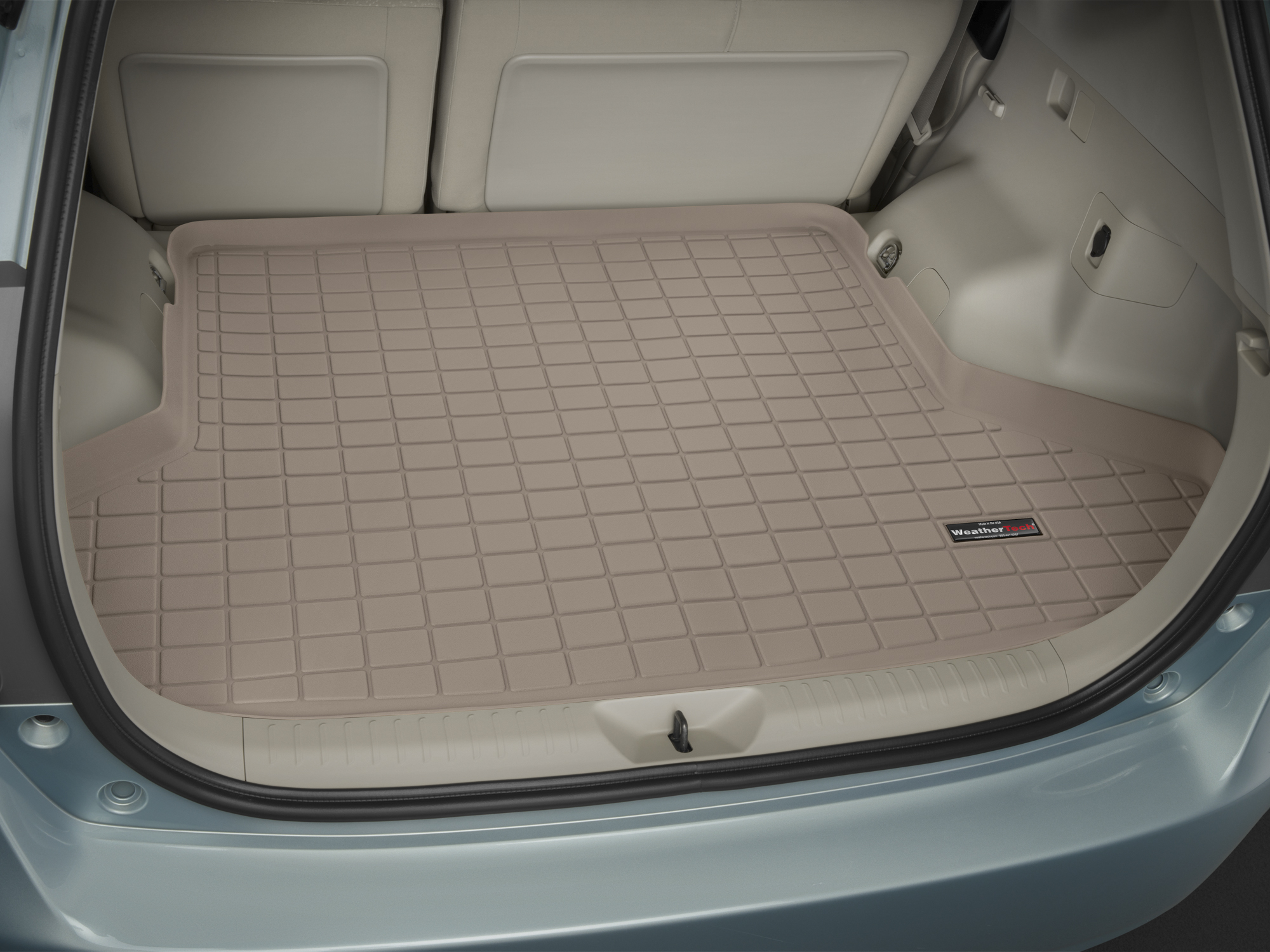 Toyota Prius + 2012>2017 Vasca baule tappeto bagagliaio marrone *1252