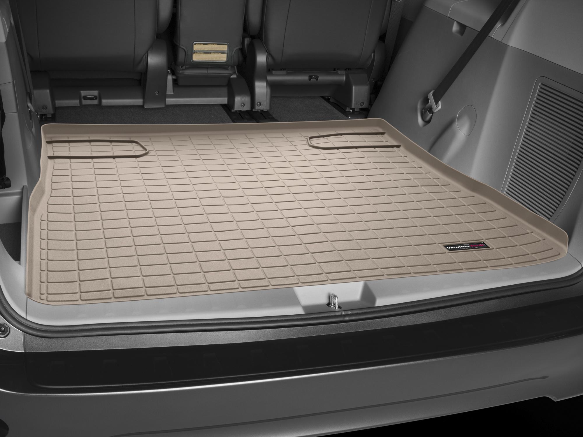 Toyota Sienna 2010>2017 Vasca baule tappeto bagagliaio marrone *1305